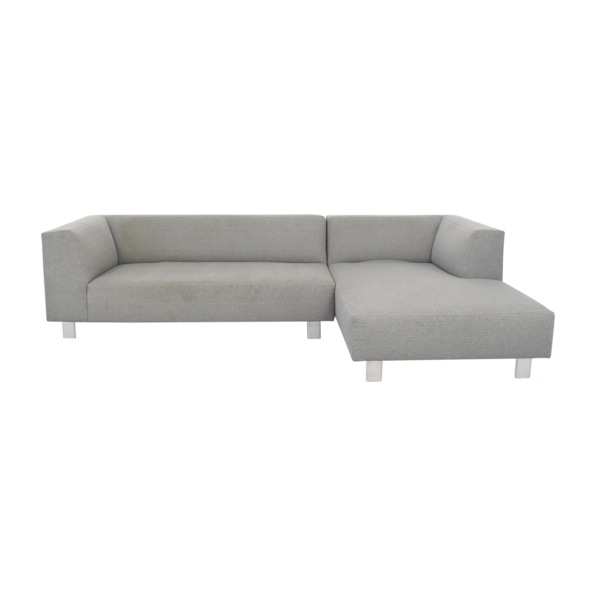 buy Room & Board Grey Chaise Sectional Sofa Room & Board Sectionals