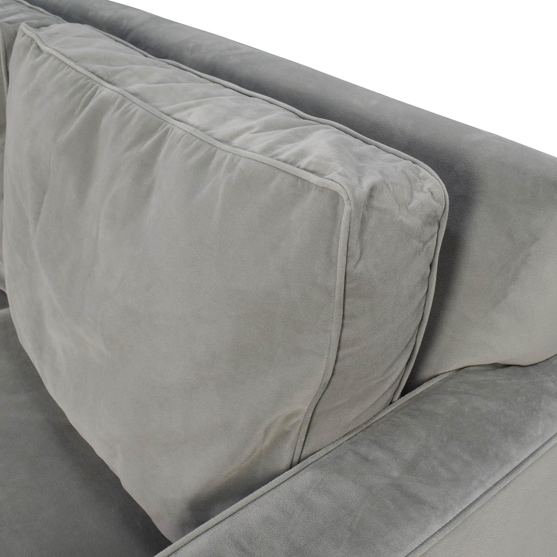 used west elm furniture. shop west elm henry microfiber sofa used furniture