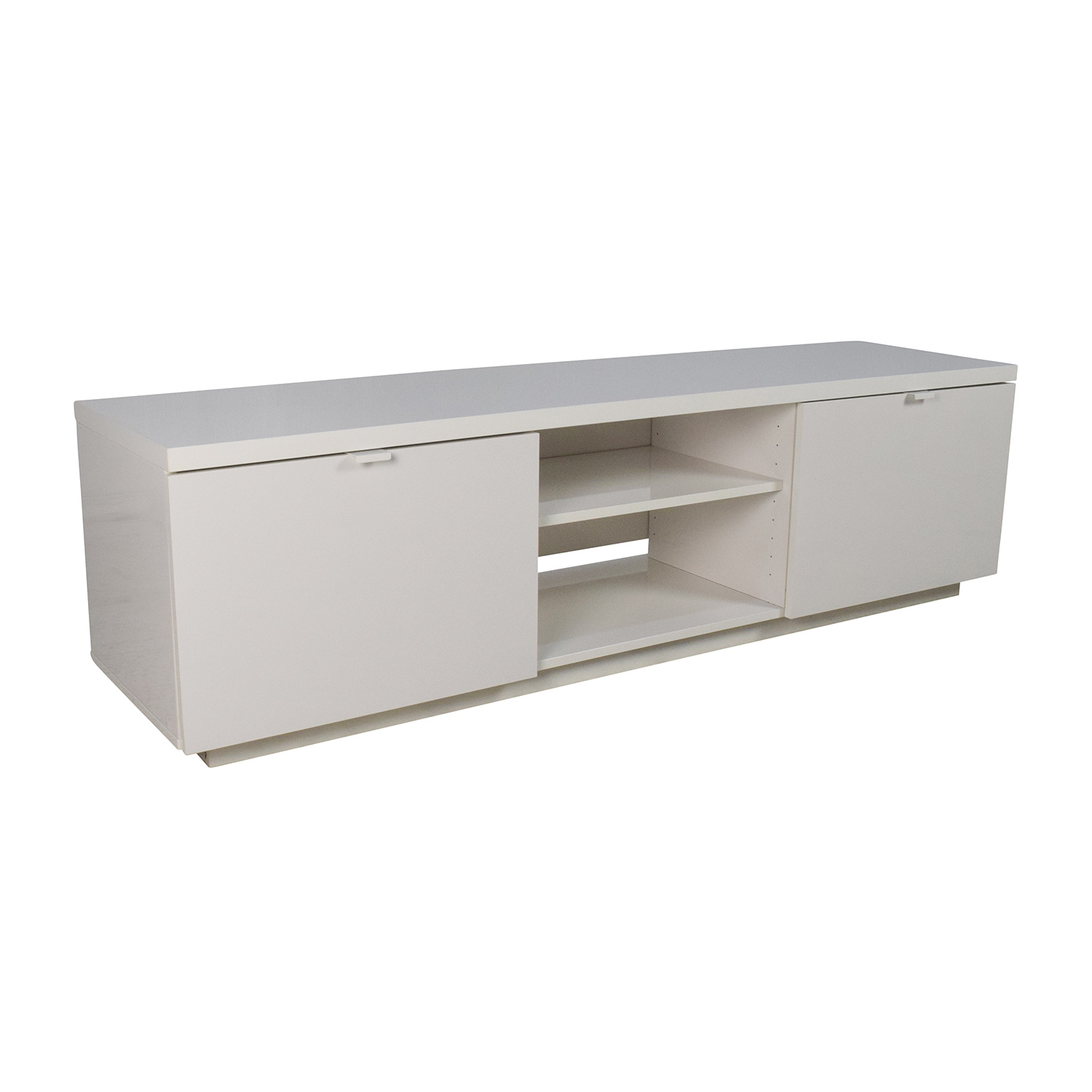 White Tv Media Unit Part - 37: ... IKEA IKEA White TV Media Unit Second Hand ...