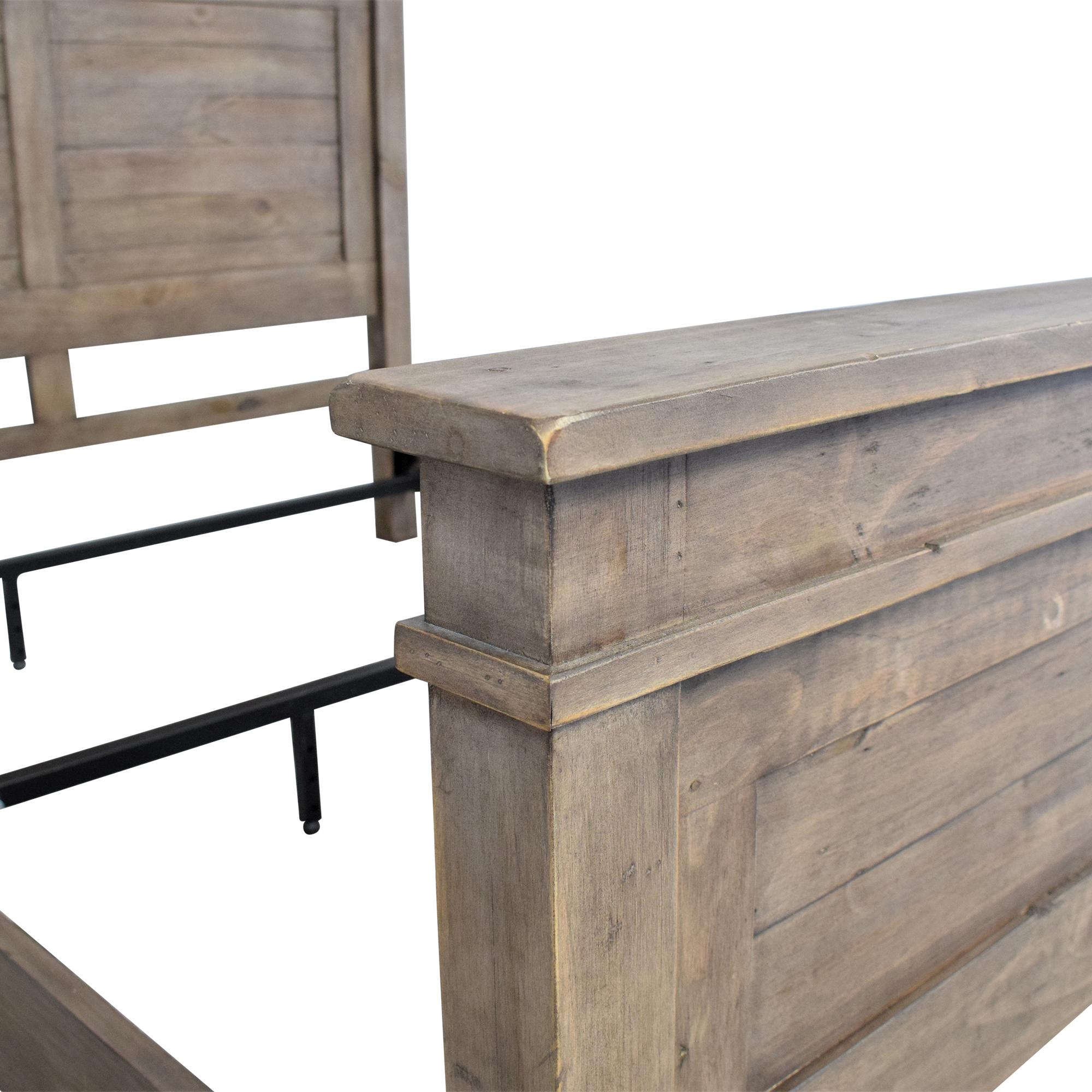 buy Zin Home Sierra Reclaimed Wood Platform Queen Bed Zin Home Bed Frames