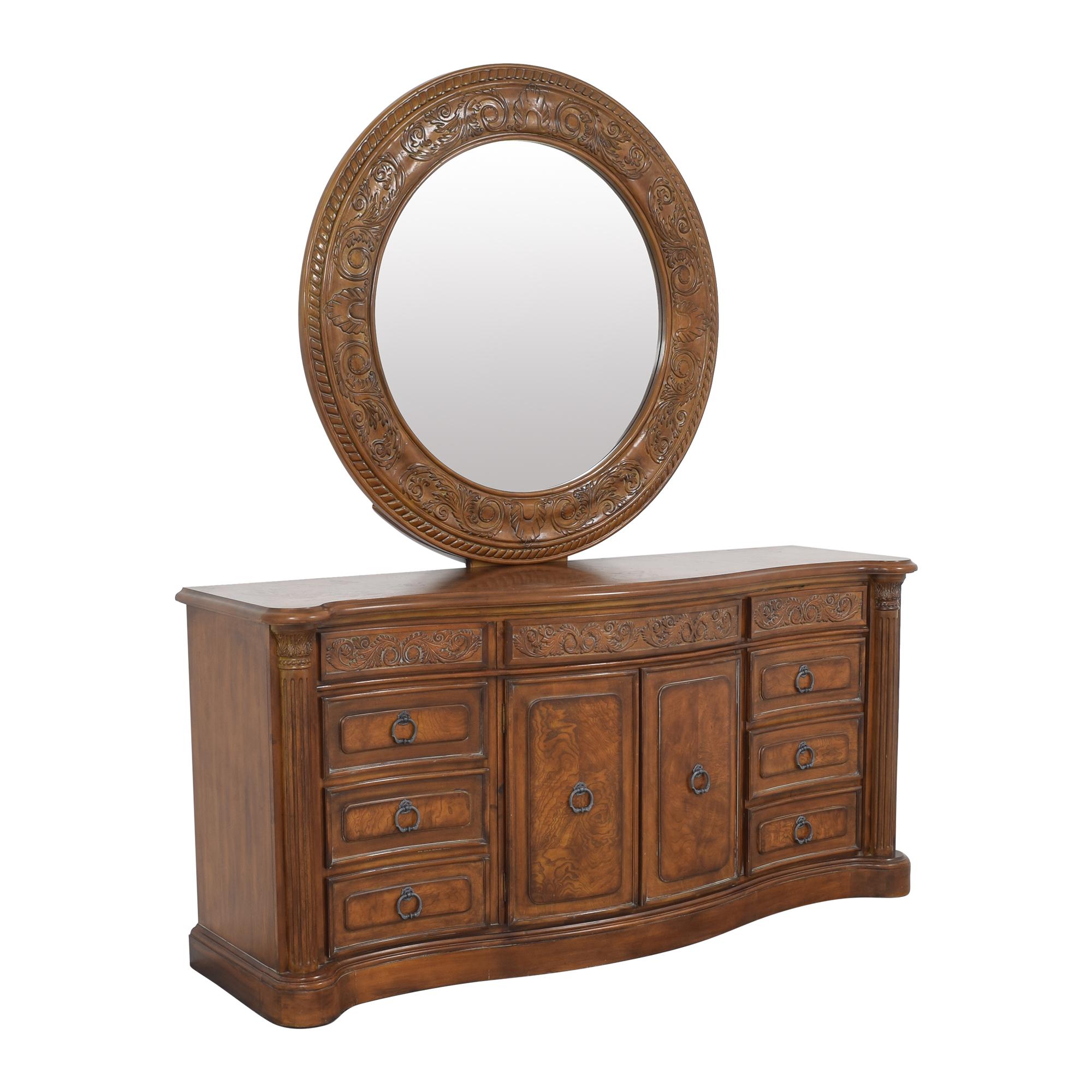 Collezione Europa Dresser with Oval Mirror sale