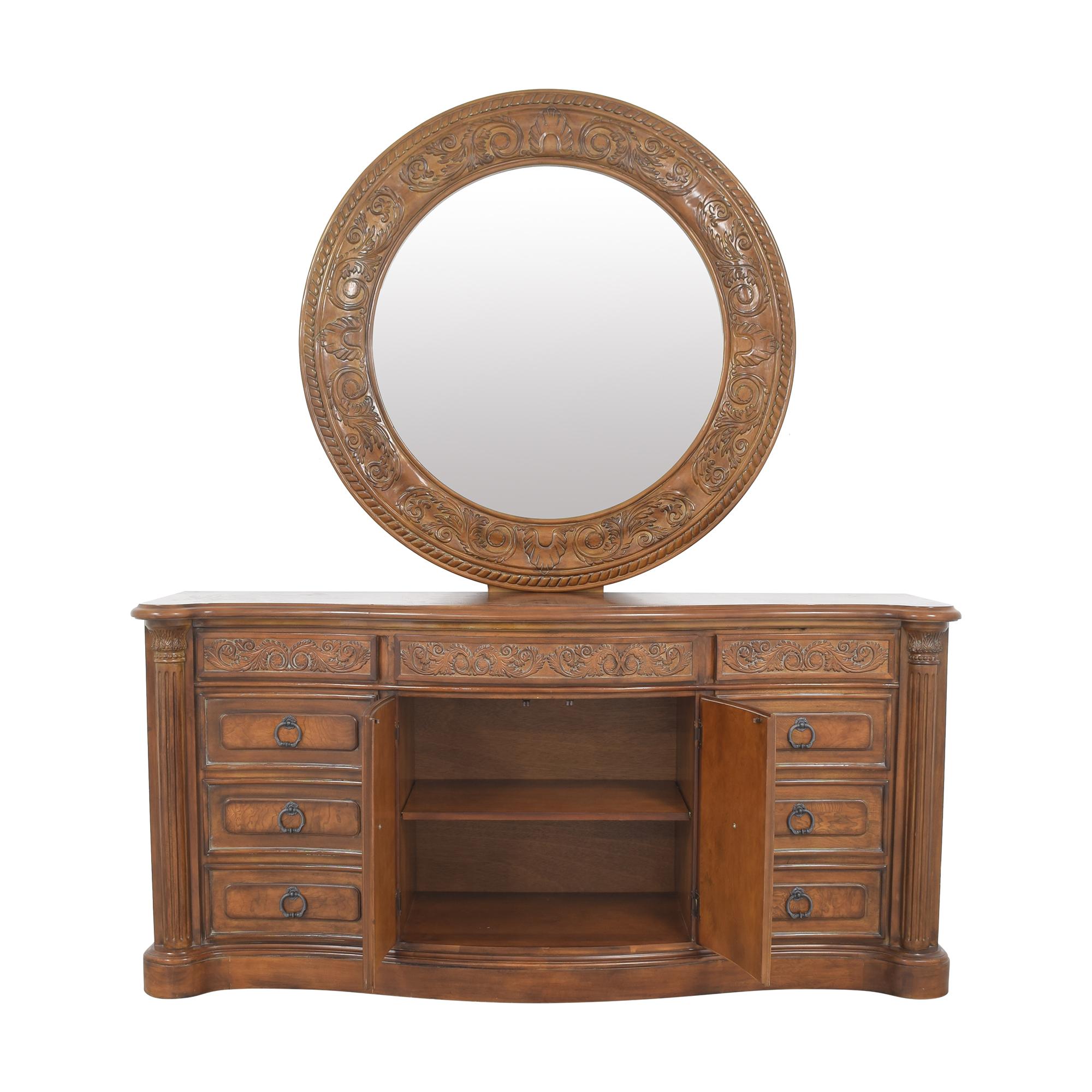 Collezione Europa Collezione Europa Dresser with Oval Mirror nj