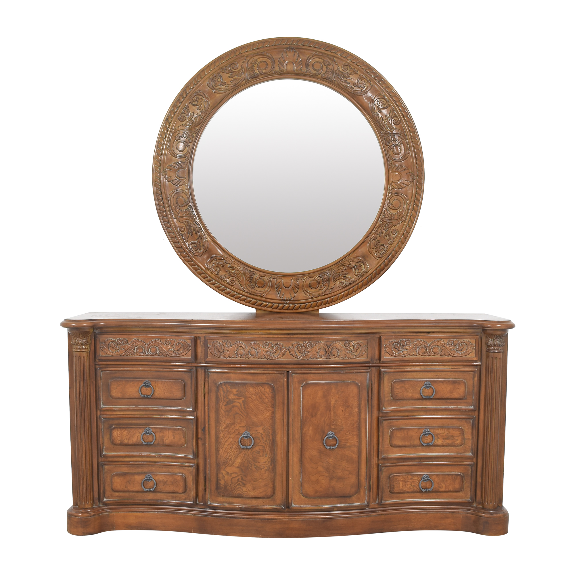 buy Collezione Europa Dresser with Oval Mirror Collezione Europa Dressers