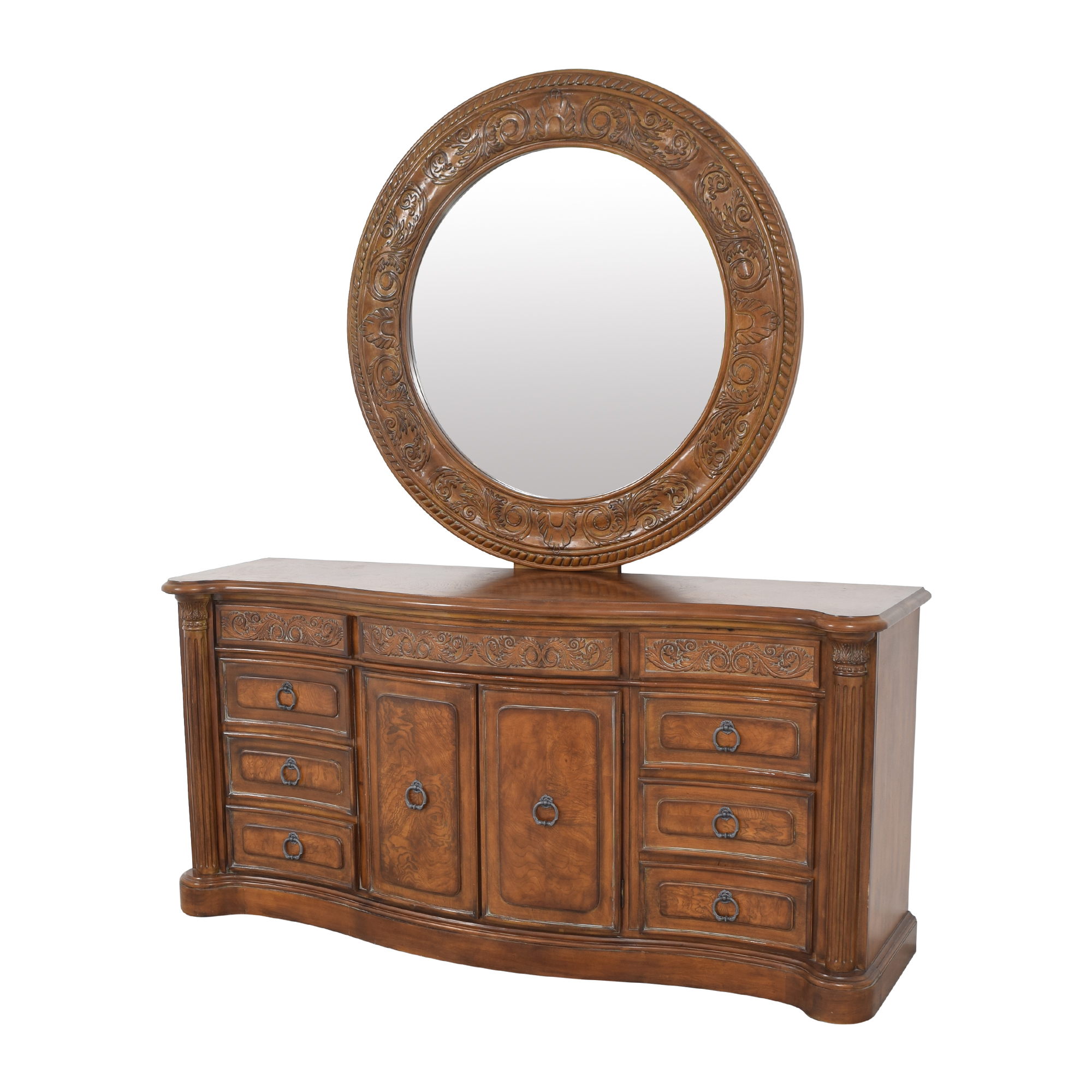 Collezione Europa Dresser with Oval Mirror / Dressers