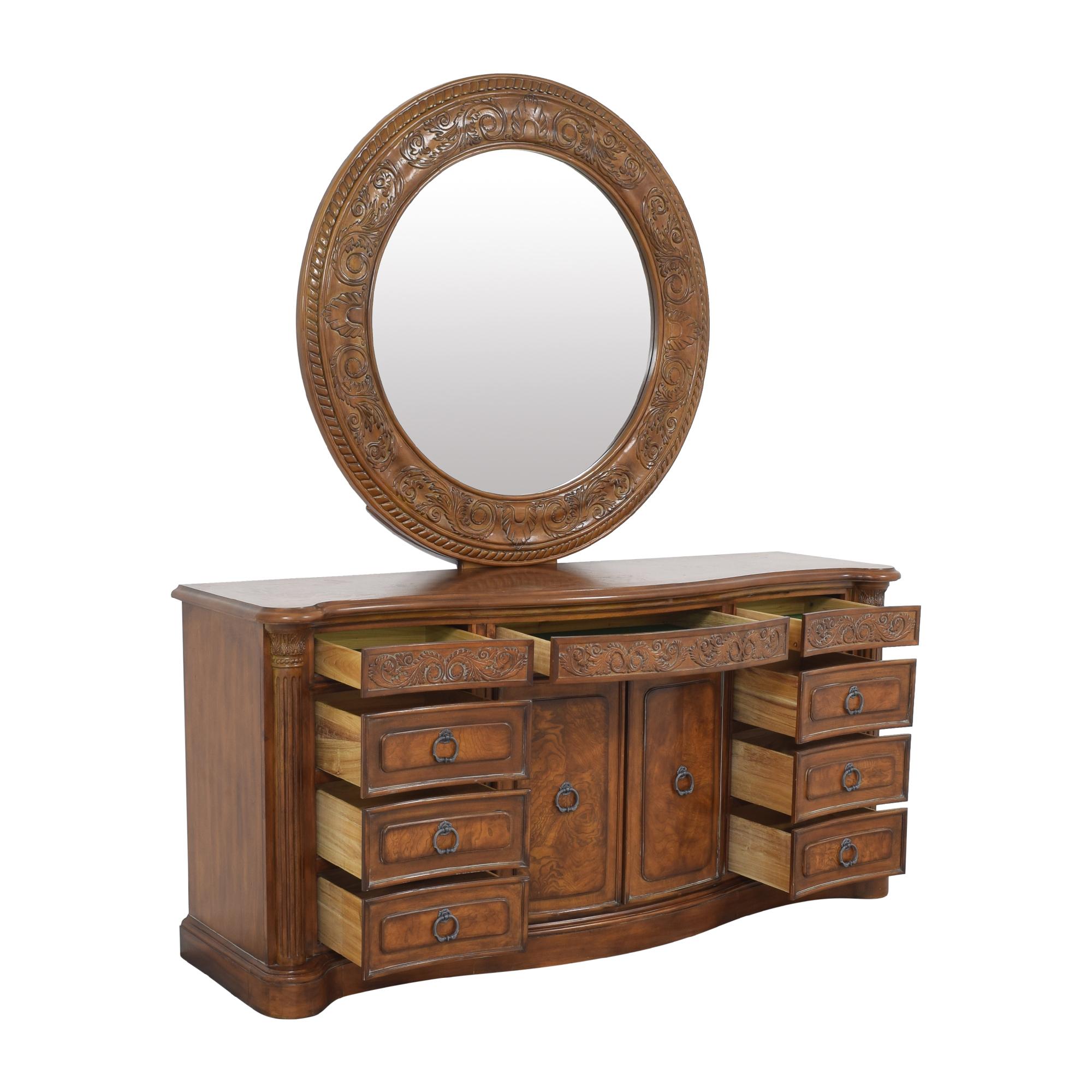 Collezione Europa Collezione Europa Dresser with Oval Mirror on sale