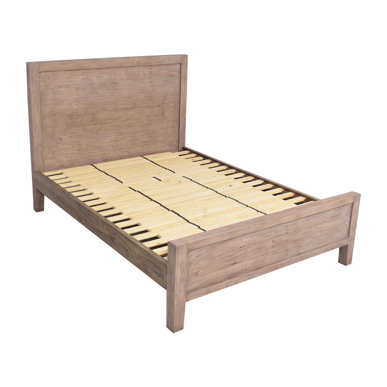 Crate & Barrel Crate & Barrel Morris Ash Grey Queen Bed nj