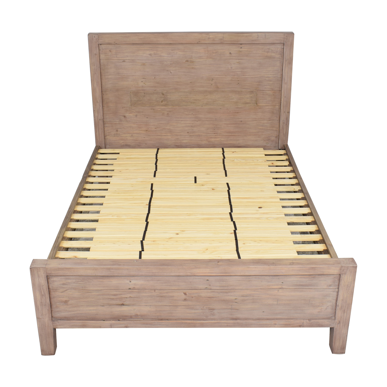 Crate & Barrel Crate & Barrel Morris Ash Grey Queen Bed on sale