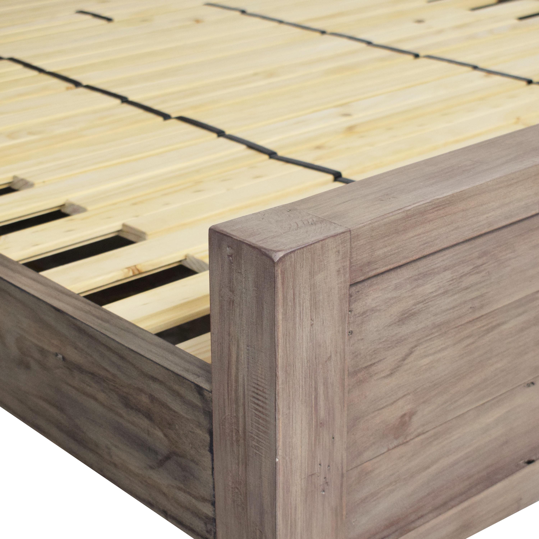 shop Crate & Barrel Morris Ash Grey Queen Bed Crate & Barrel Beds