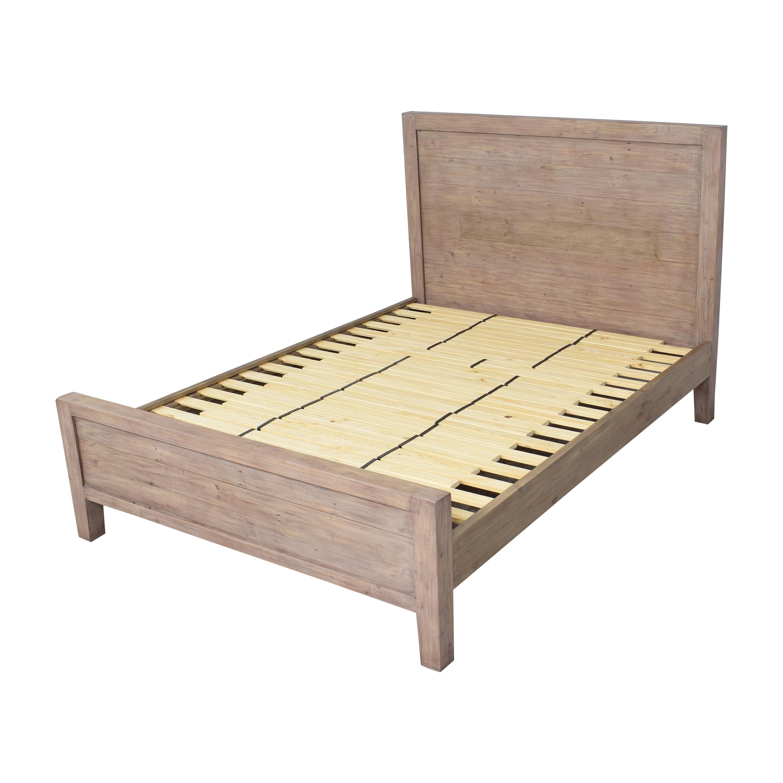 Crate & Barrel Crate & Barrel Morris Ash Grey Queen Bed second hand