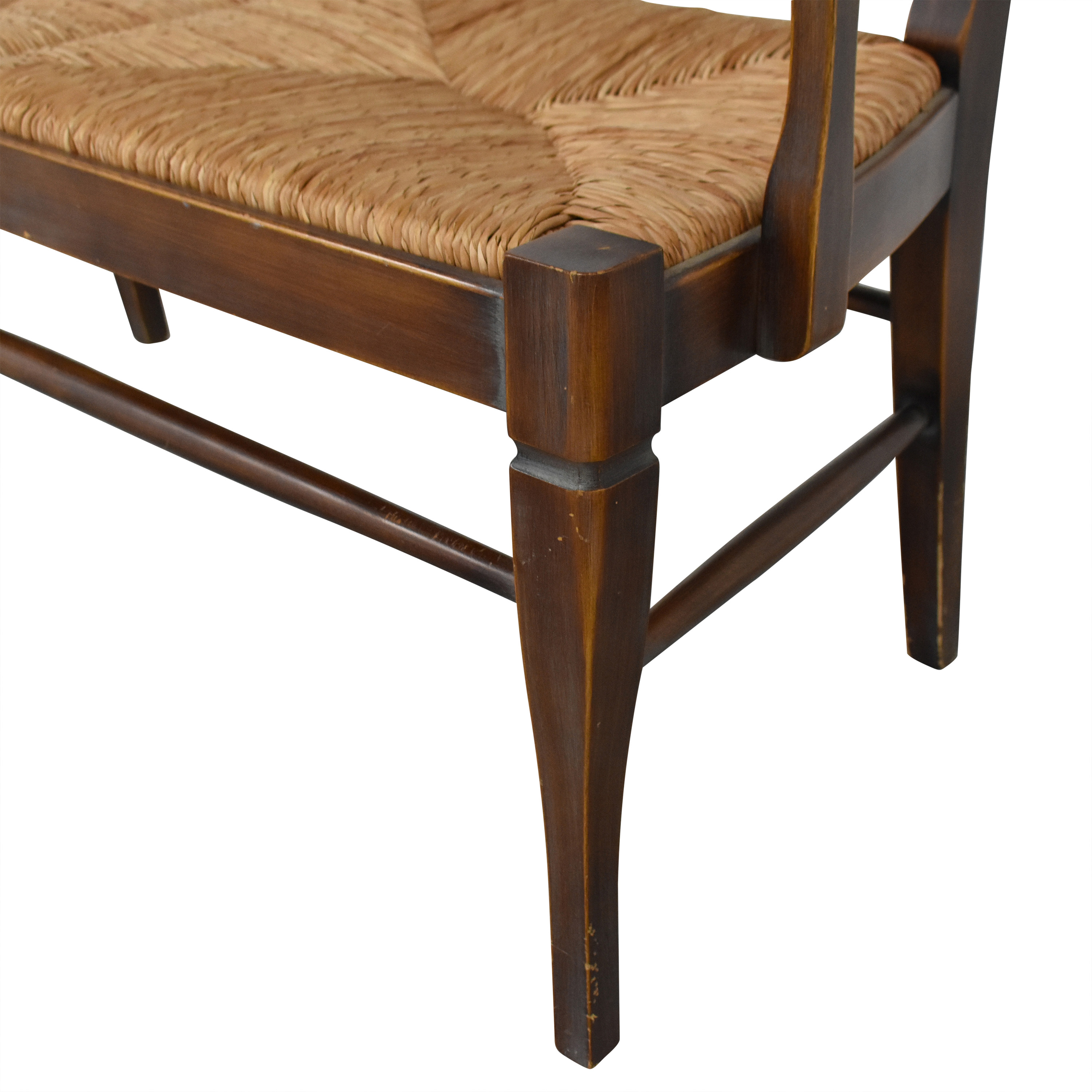 shop Crate & Barrel Rush Seat Bench Crate & Barrel Chairs