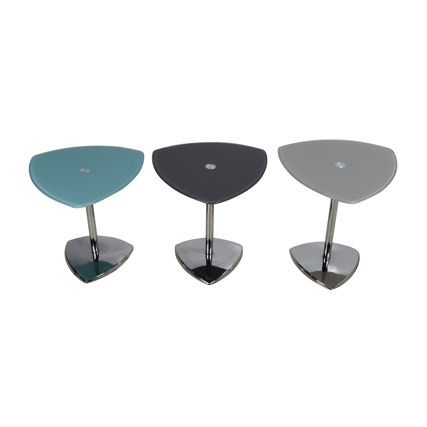 Set of 3 Glass Side Tables