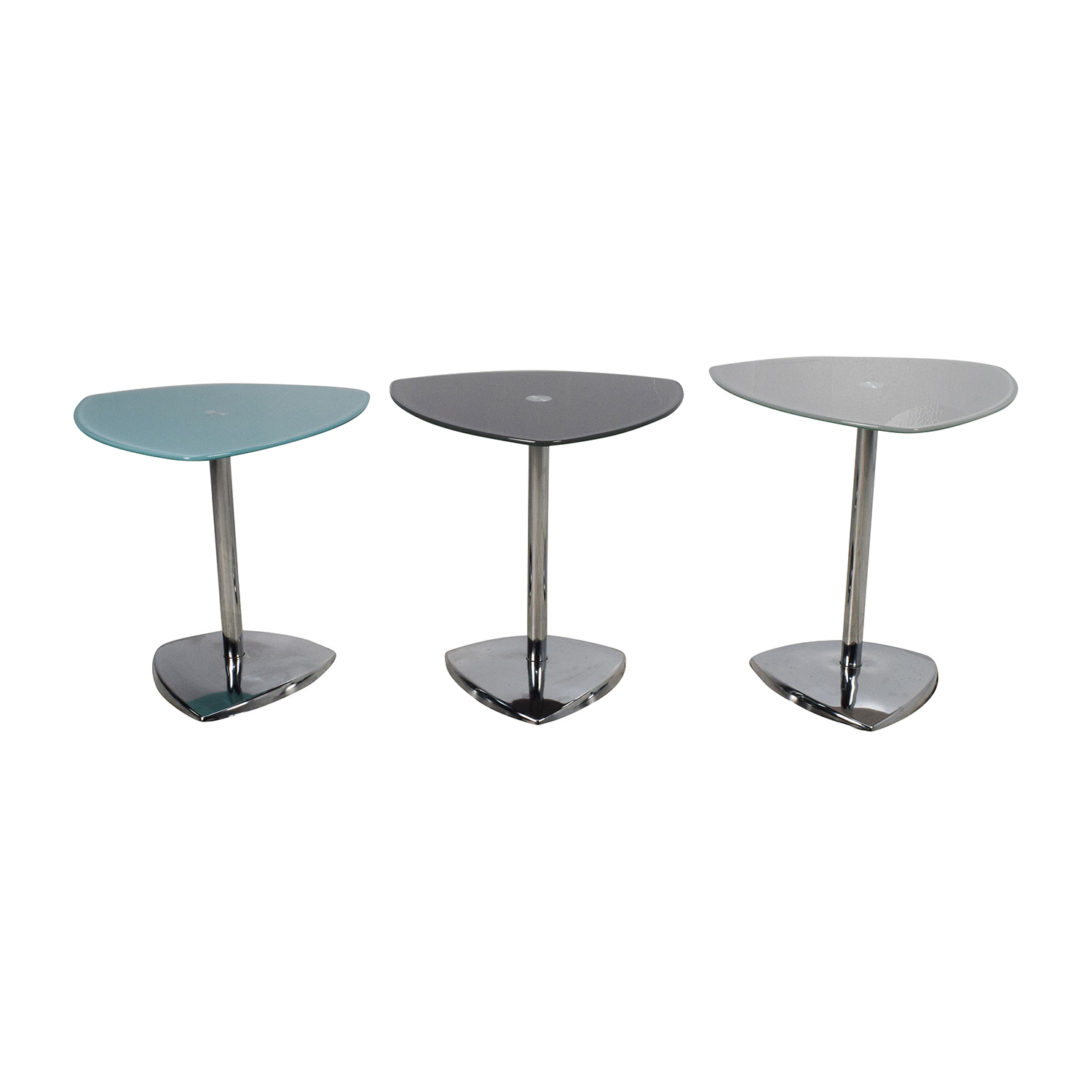 buy Set of 3 Glass Side Tables
