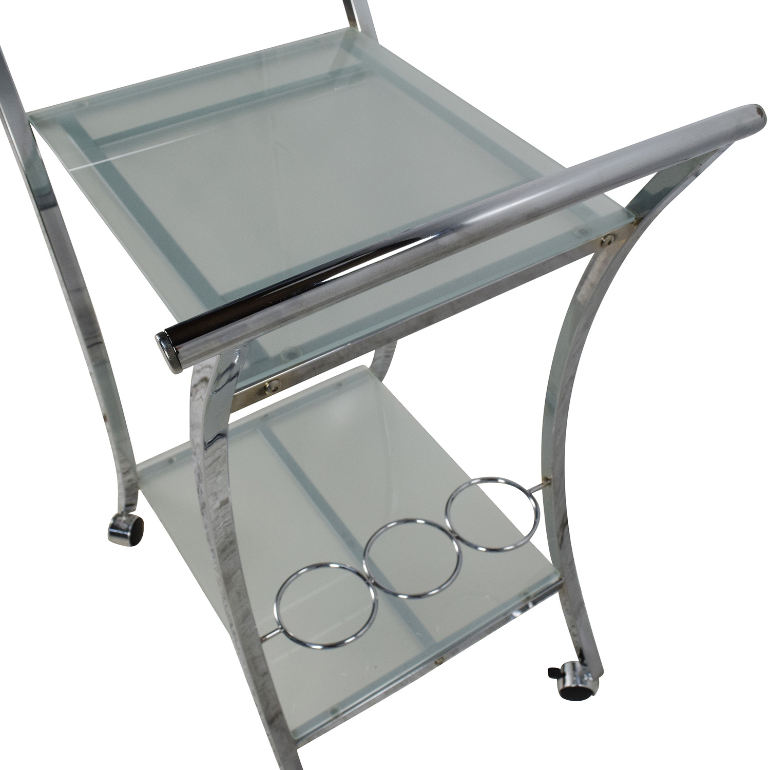 89 Off Rolling Food Serving Cart Tables