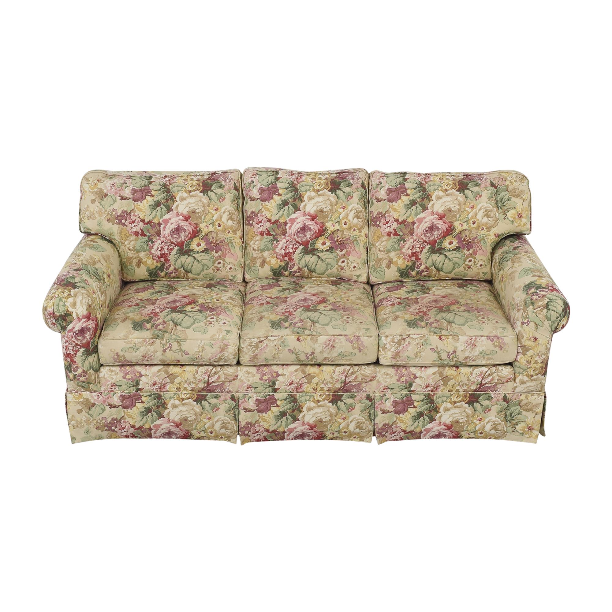 shop Ethan Allen Floral Three Cushion Sofa Ethan Allen