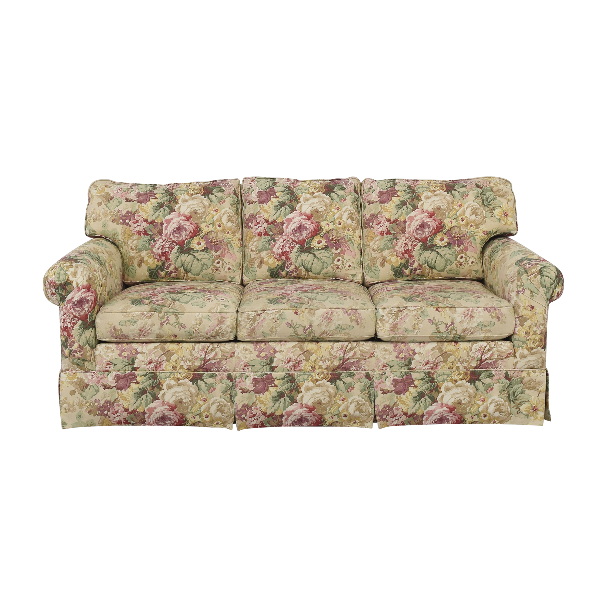 Ethan Allen Ethan Allen Floral Three Cushion Sofa multi