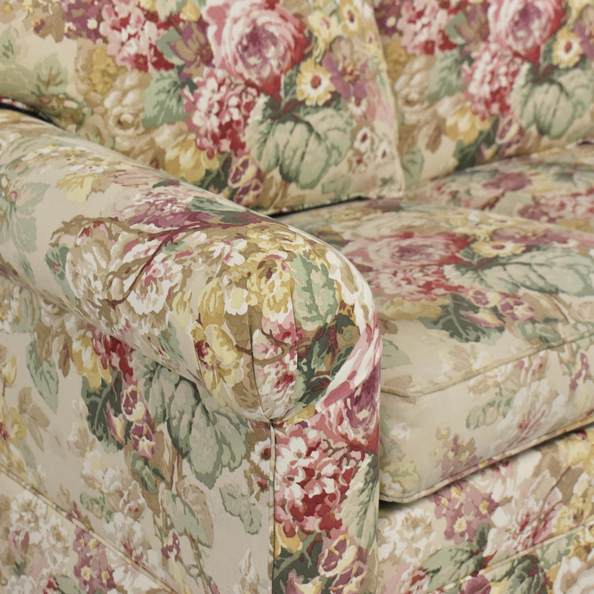 buy Ethan Allen Floral Three Cushion Sofa Ethan Allen