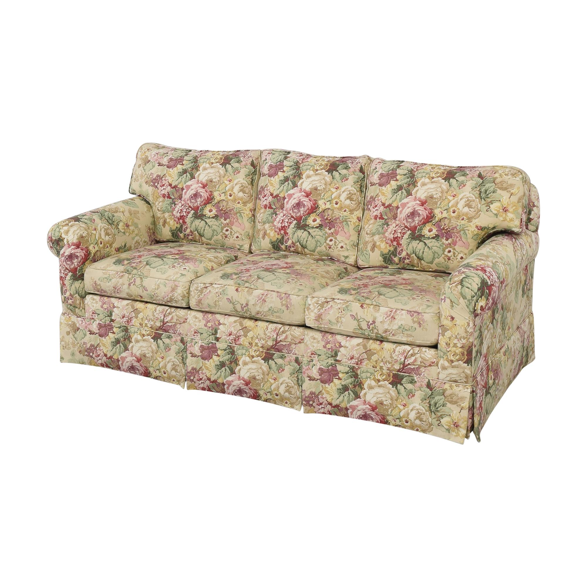 Ethan Allen Ethan Allen Floral Three Cushion Sofa pa
