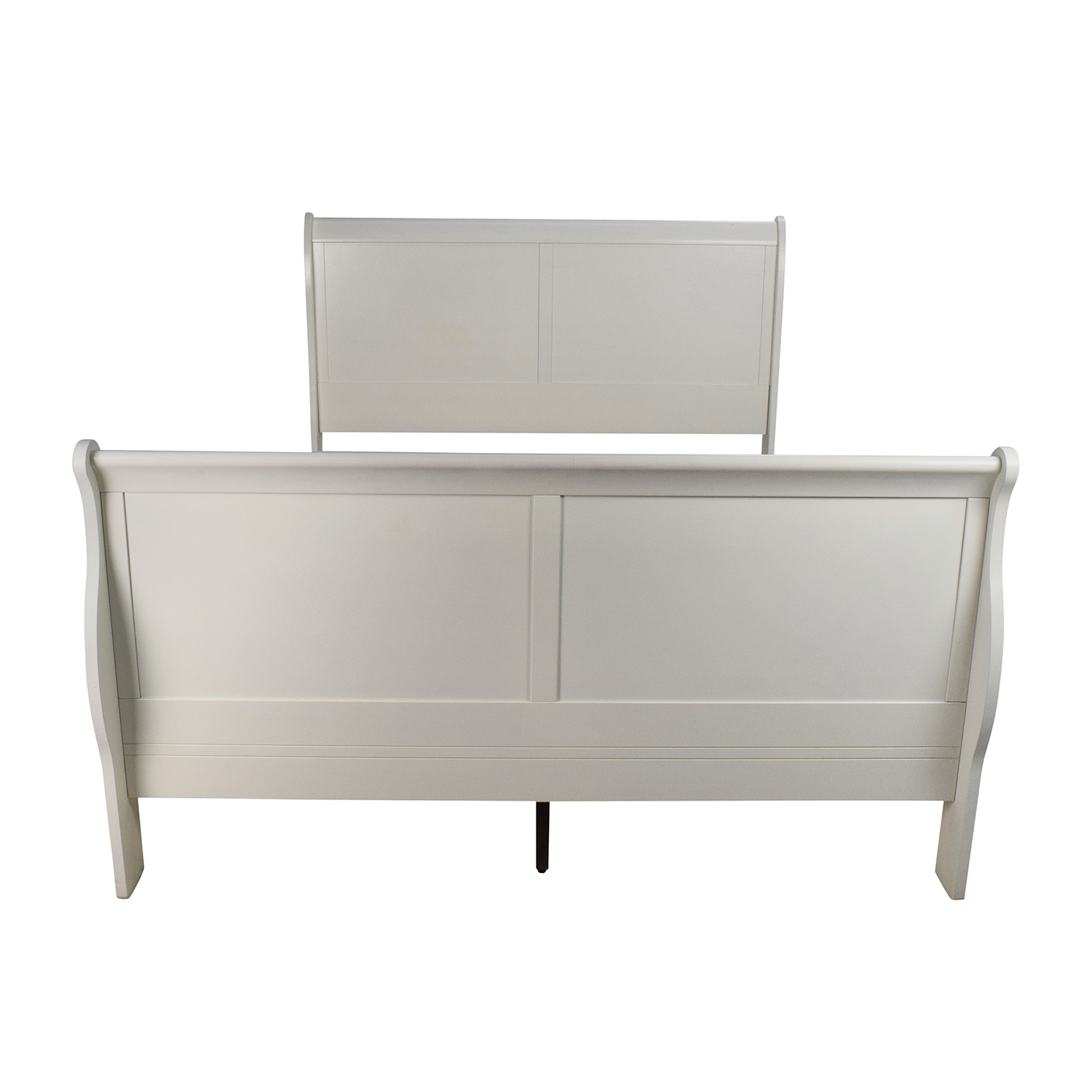 White Wooden Sleigh Bed dimensions