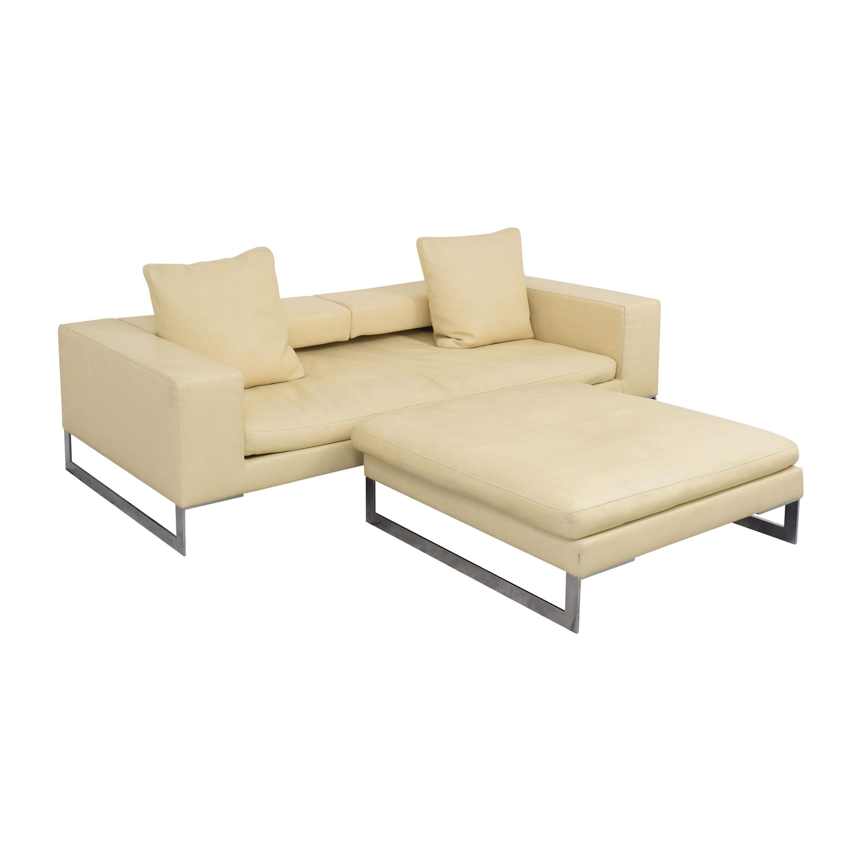 Erba Erba Italia Sofa with Ottoman on sale