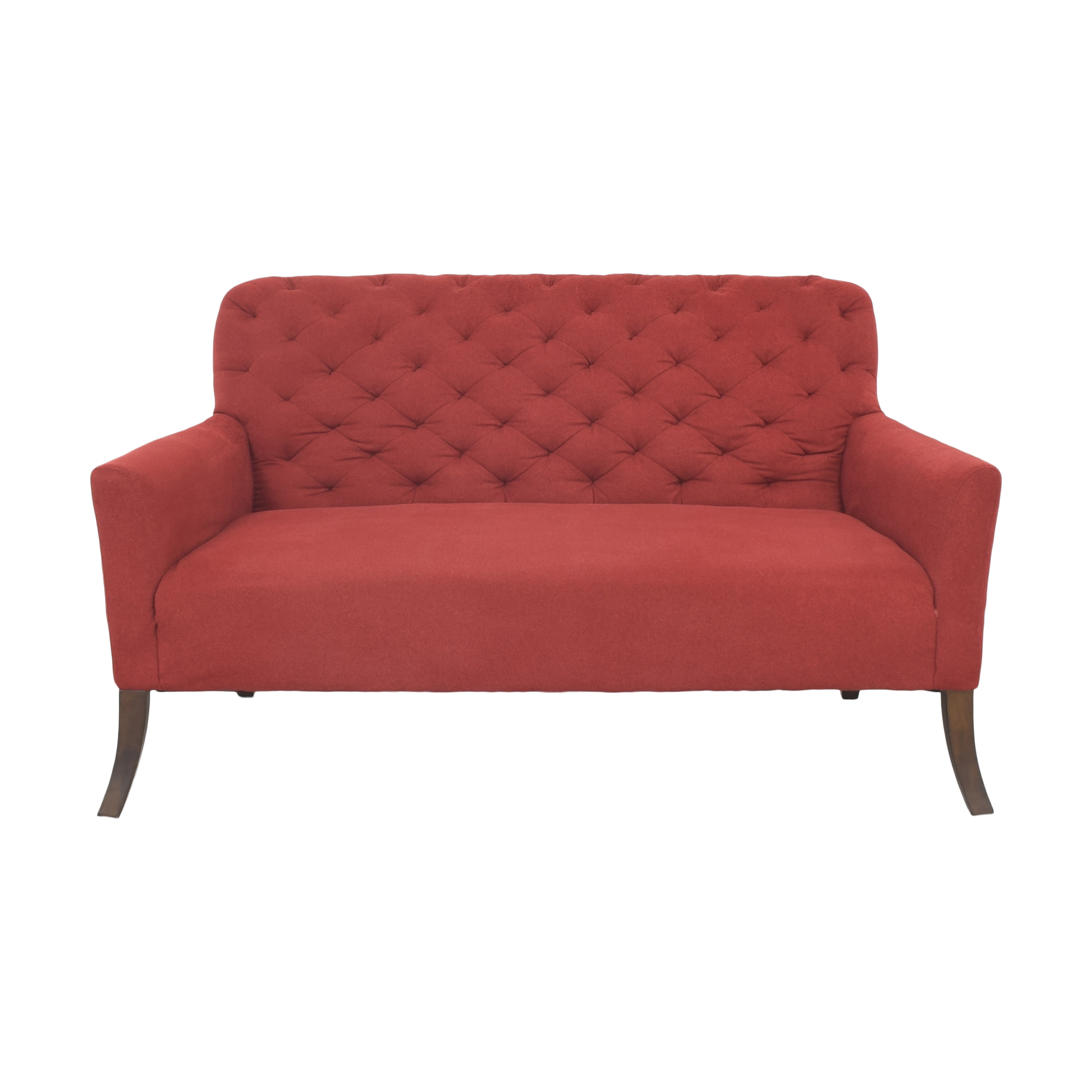 West Elm West Elm Elton Settee red