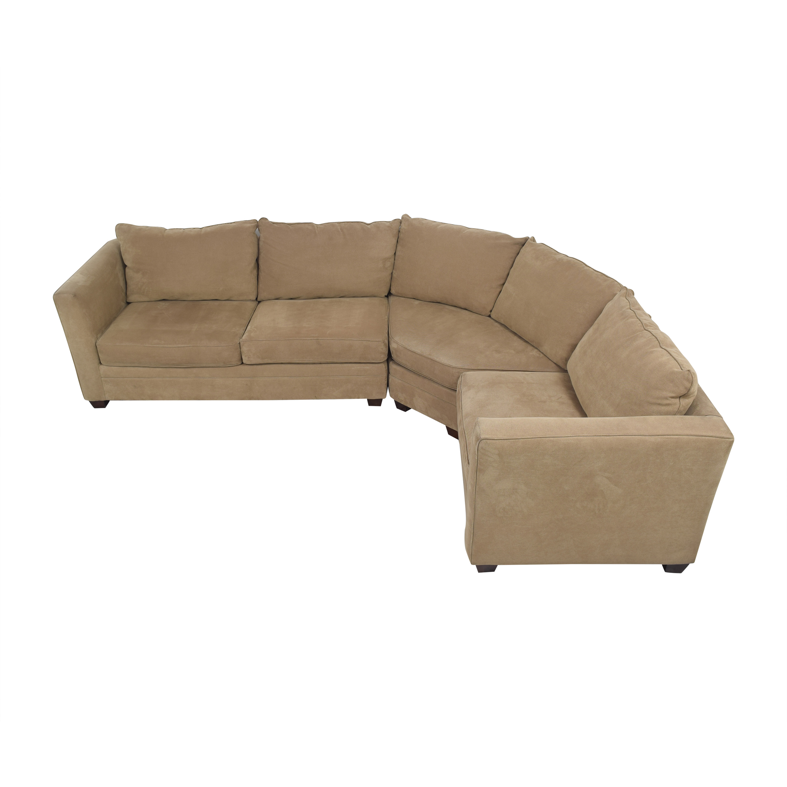 Three Piece Curved Sectional Sofa on sale