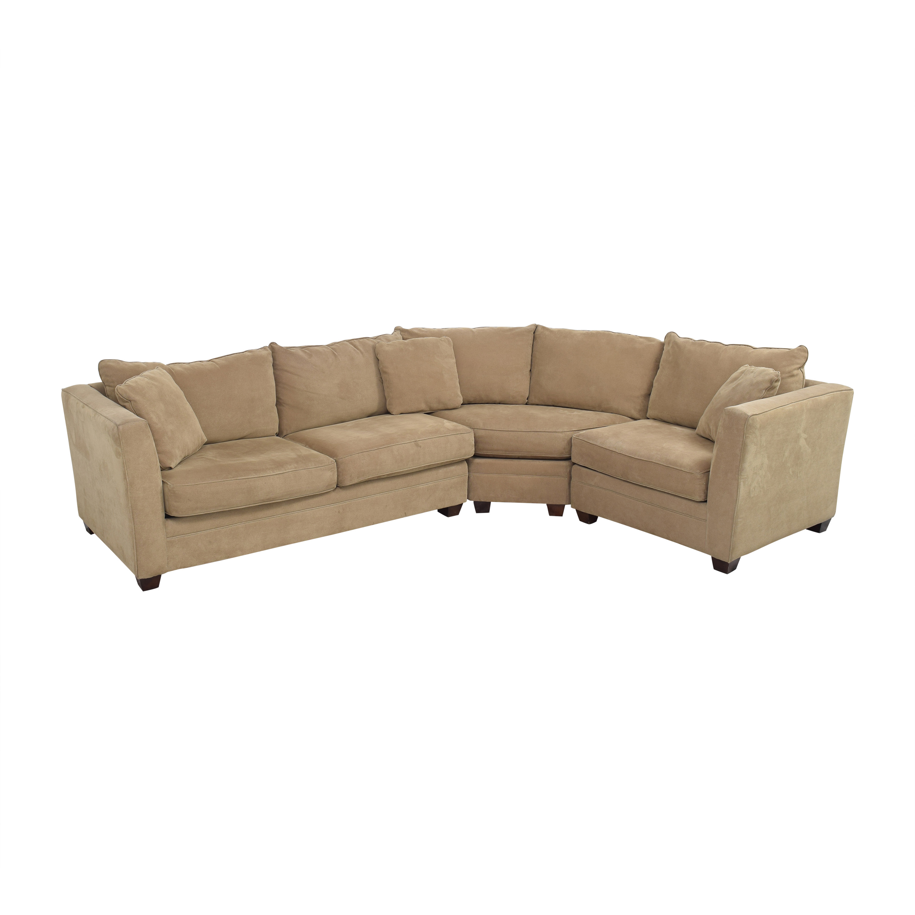 Three Piece Curved Sectional Sofa Sectionals