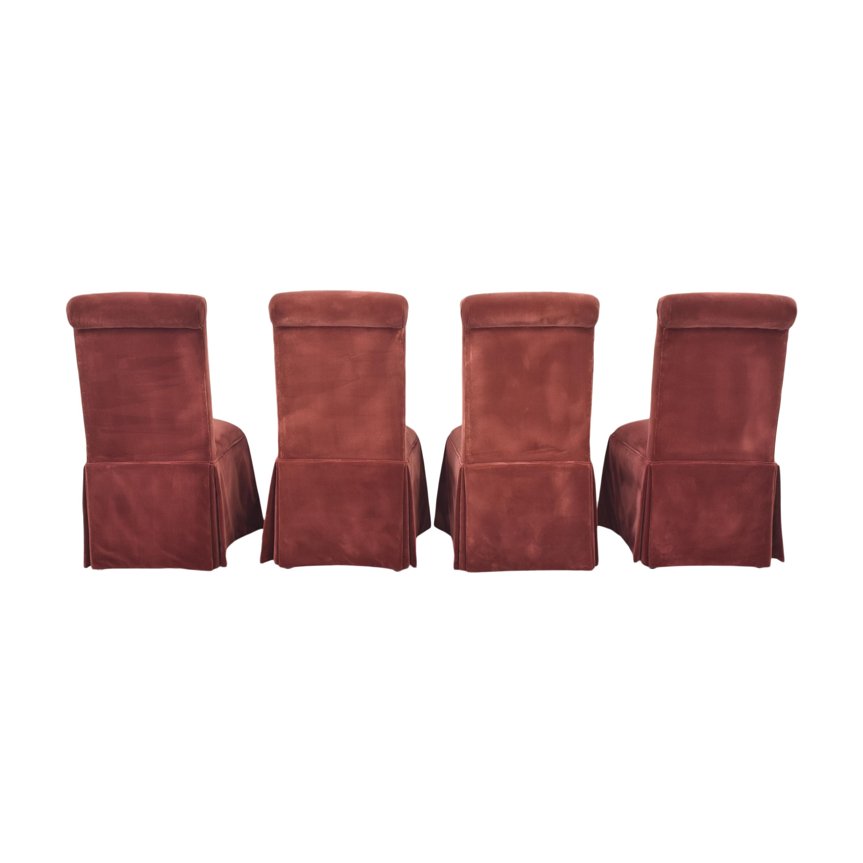 Lane Furniture Lane Skirted Dining Chairs red