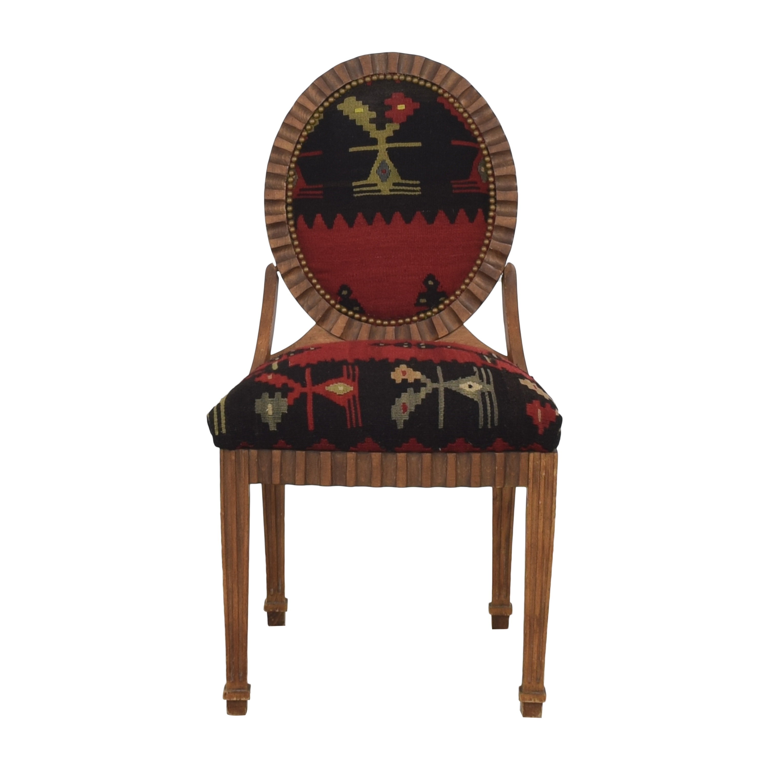Kilim Style Side Chair Accent Chairs