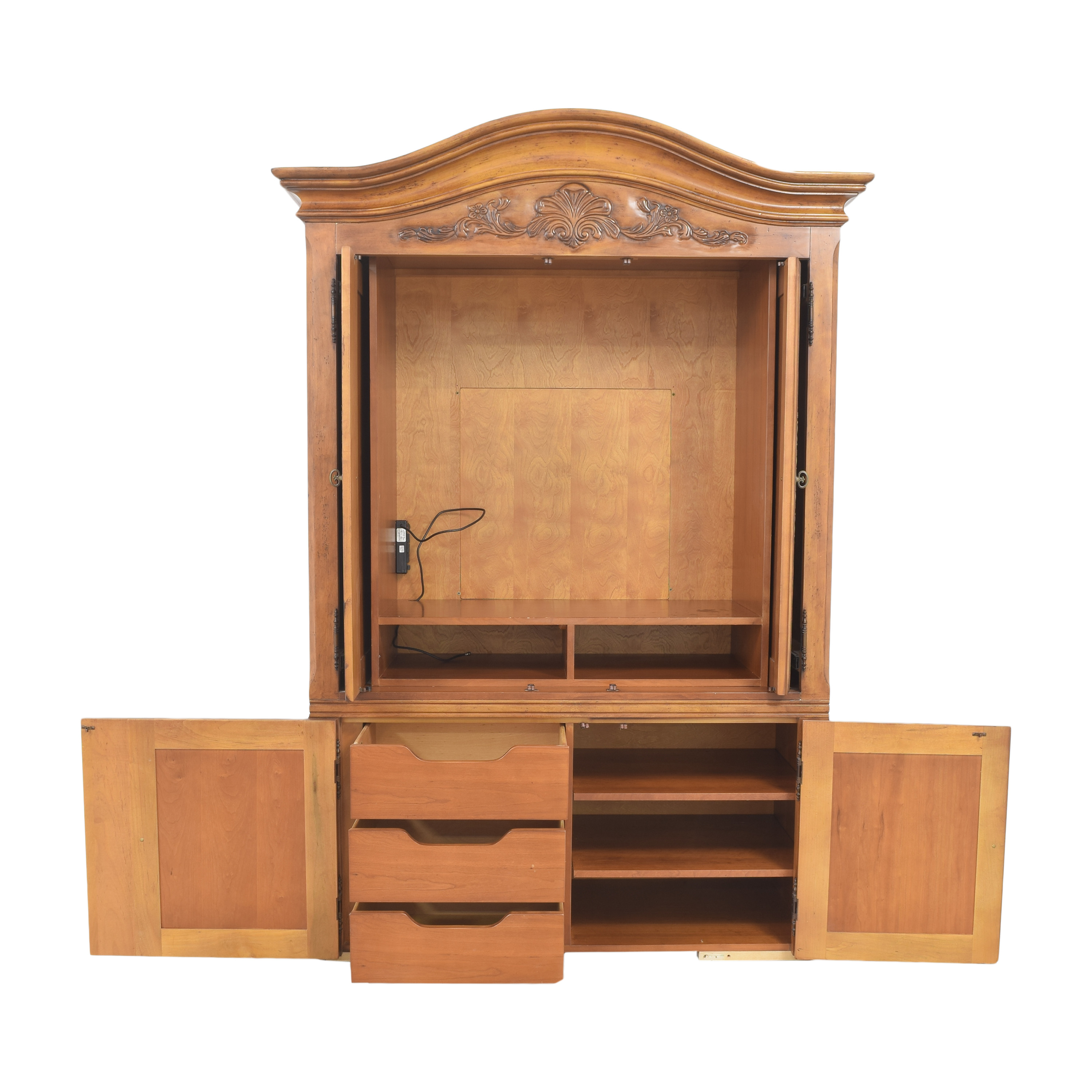 shop Century Furniture Media Armoire with Drawers Century Furniture Media Units