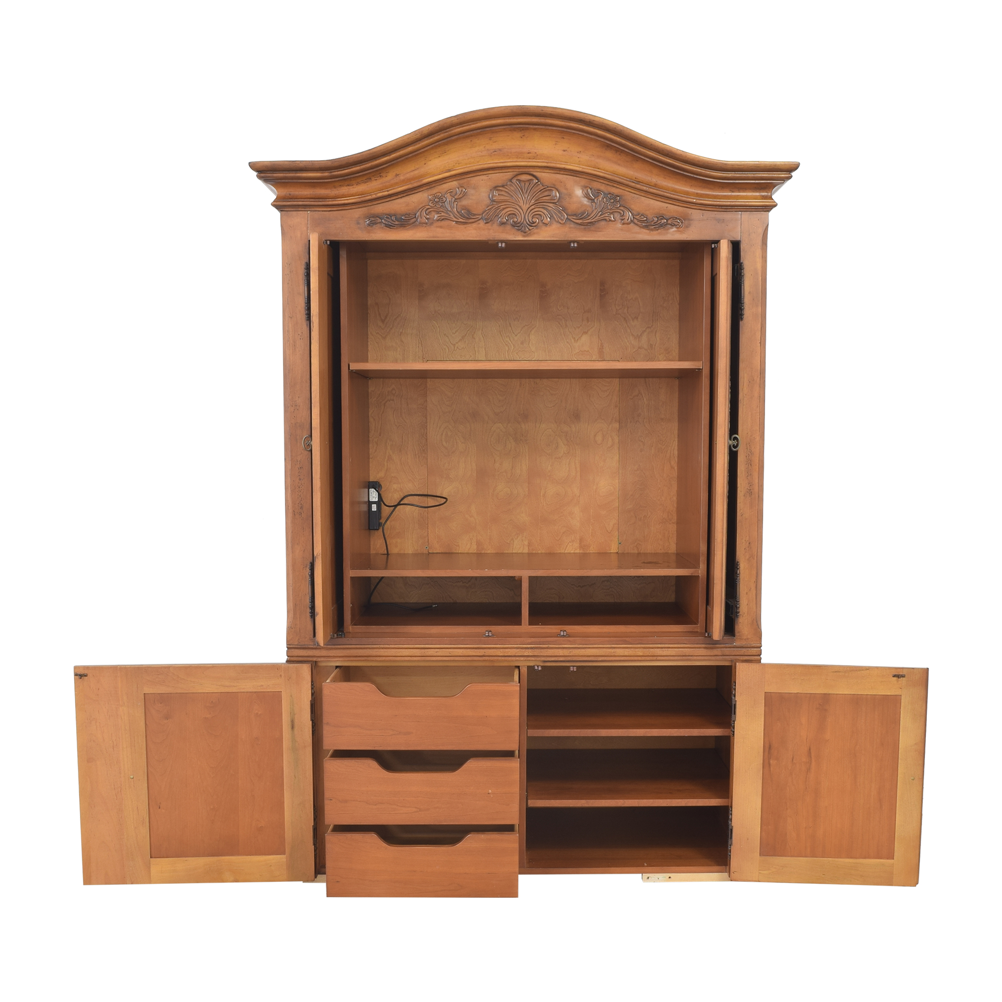 Century Furniture Media Armoire with Drawers Century Furniture