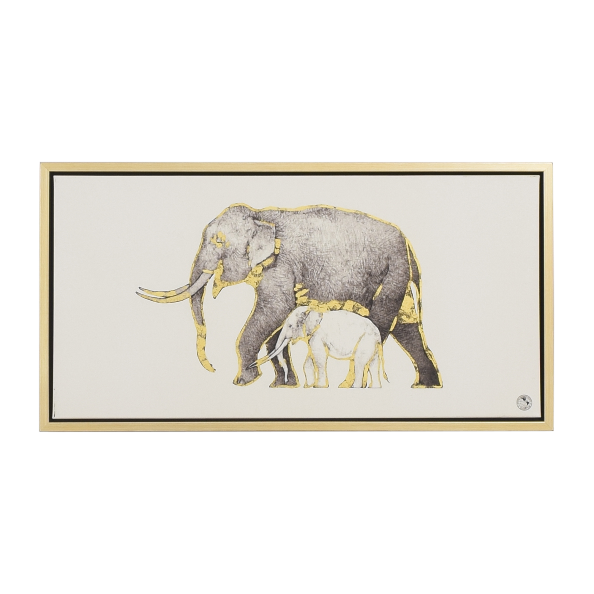 buy Z Gallerie Elephant National Geographic Wall Art Z Gallerie Decor