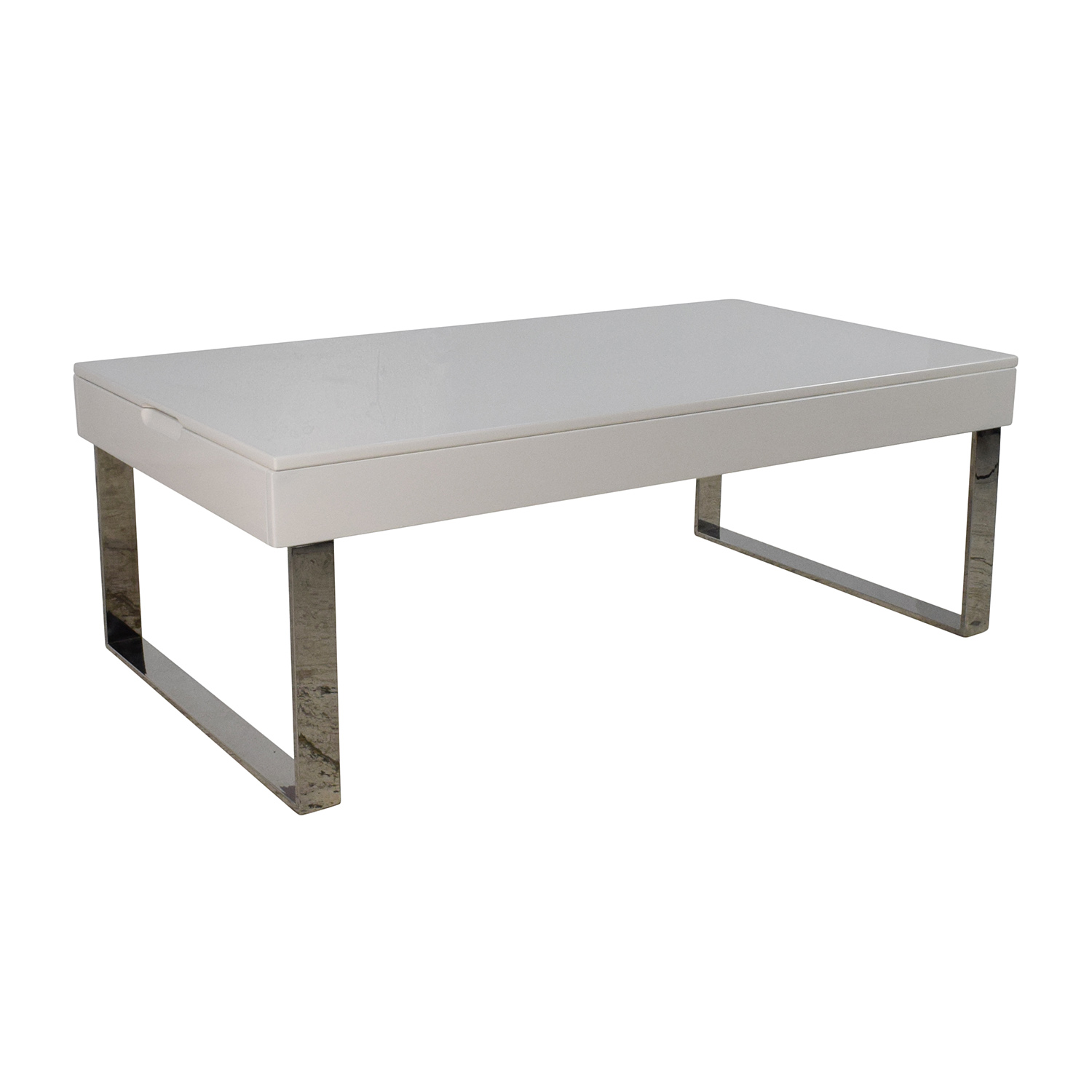 71 Off Halmstad Modern White Lift Top Coffee Table Tables