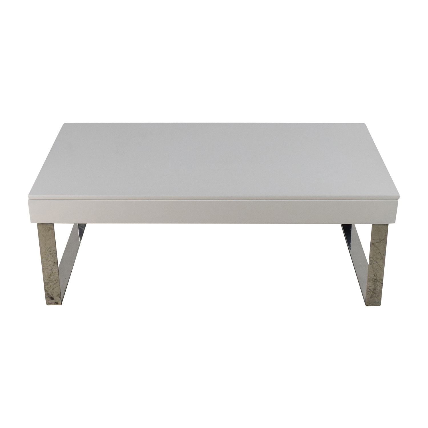 shop Halmstad Modern White Lift-Top Coffee Table