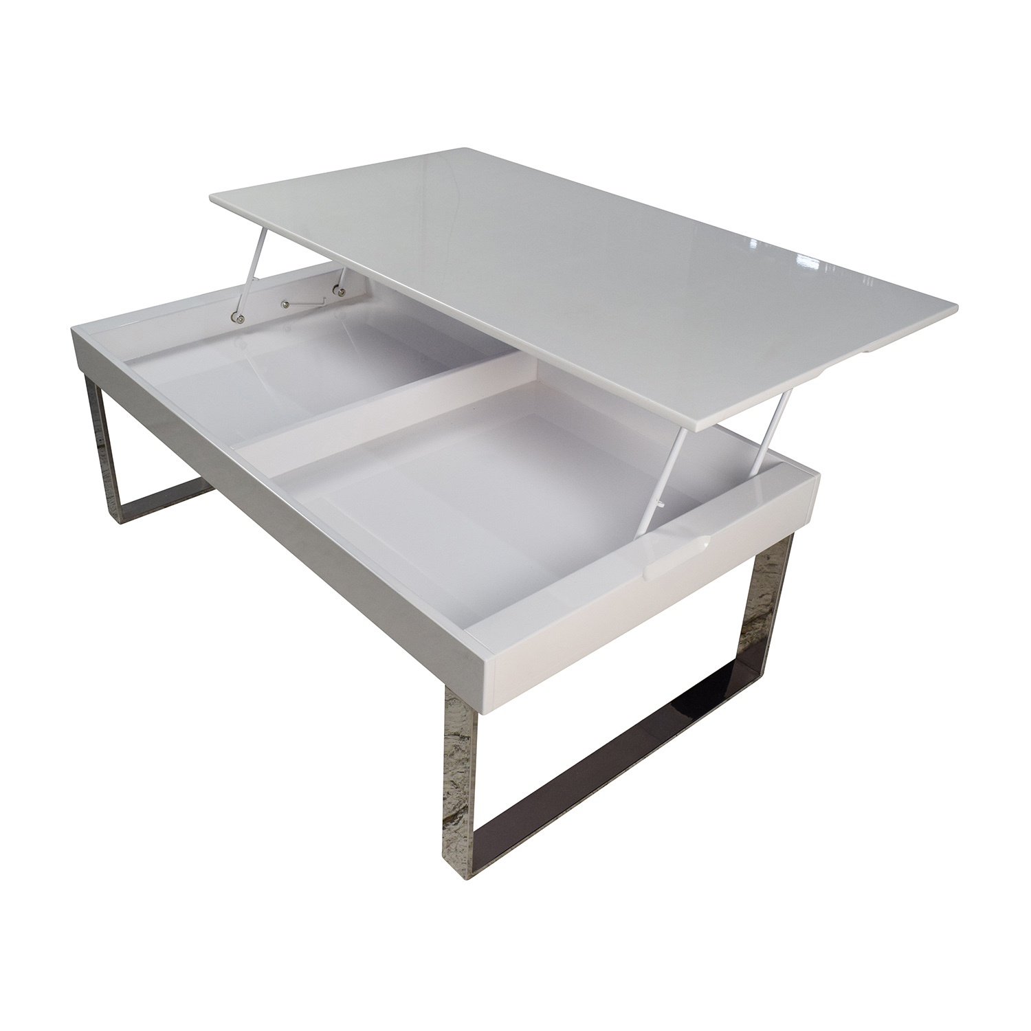 Lift Table Coffee Table: Halmstad Modern White Lift-Top Coffee Table / Tables