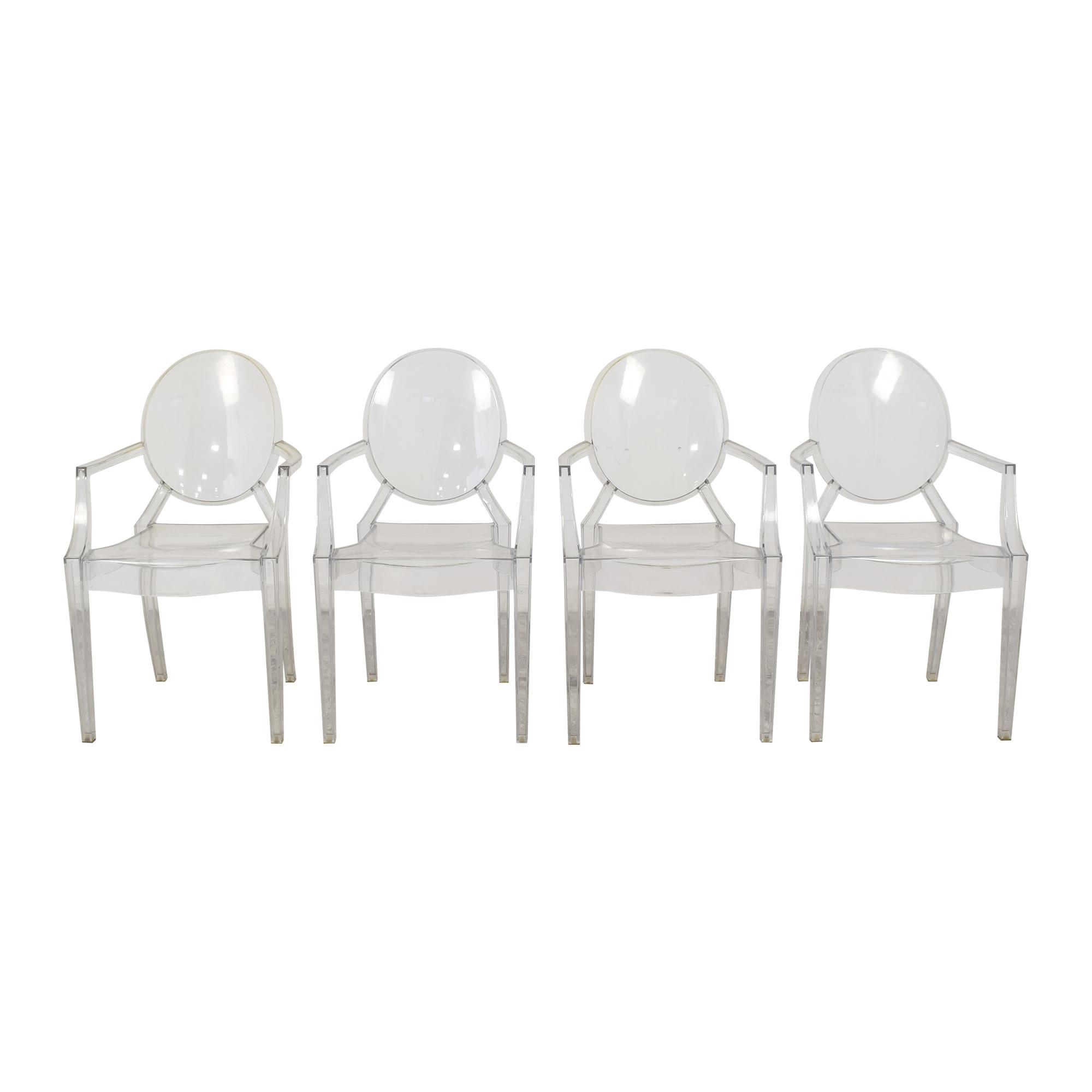 Poly & Bark Poly & Bark Ghost Style Arm Chairs ma