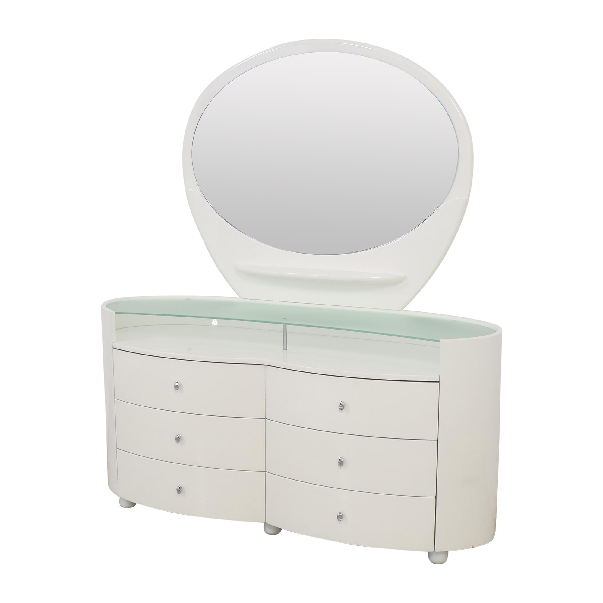 Vintage Style Dresser with Vanity Mirror white