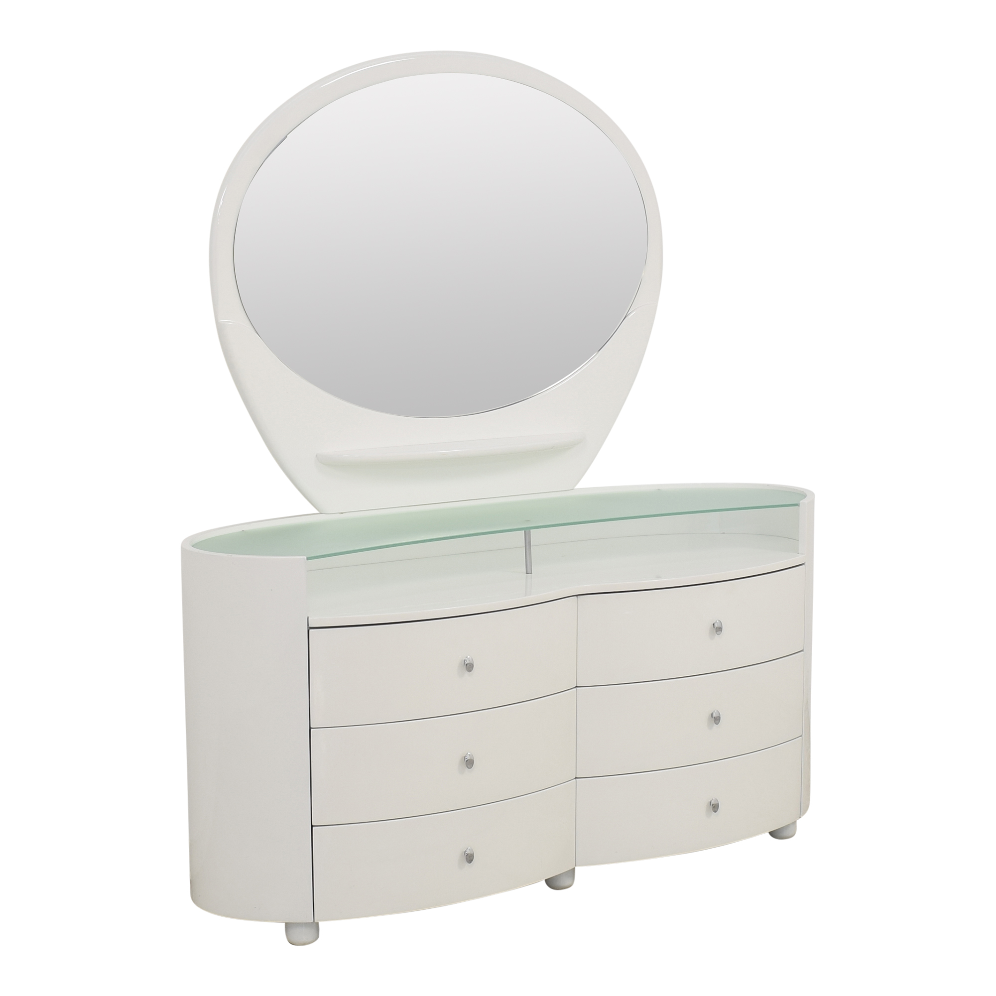 Vintage Style Dresser with Vanity Mirror for sale
