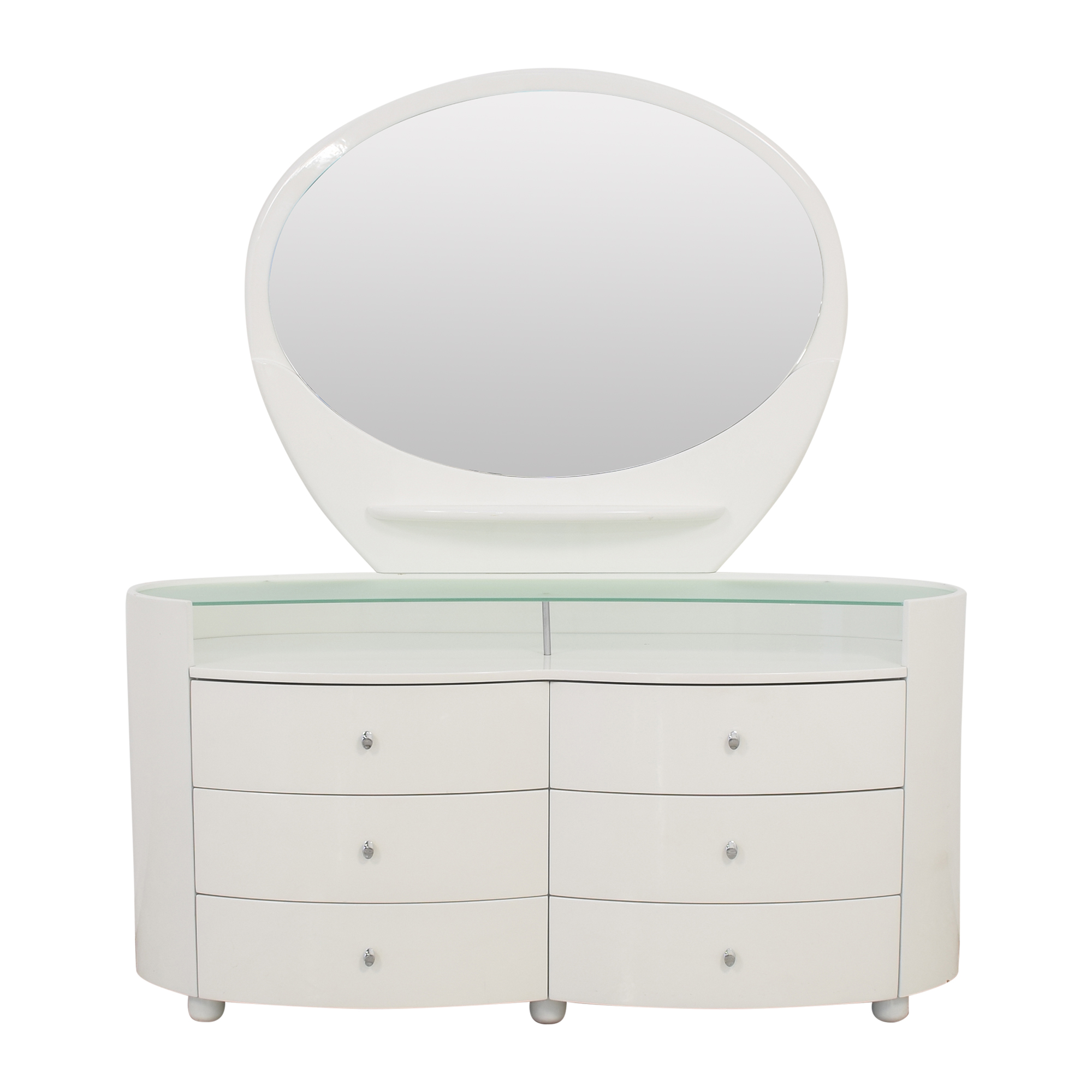 Vintage Style Dresser with Vanity Mirror nj