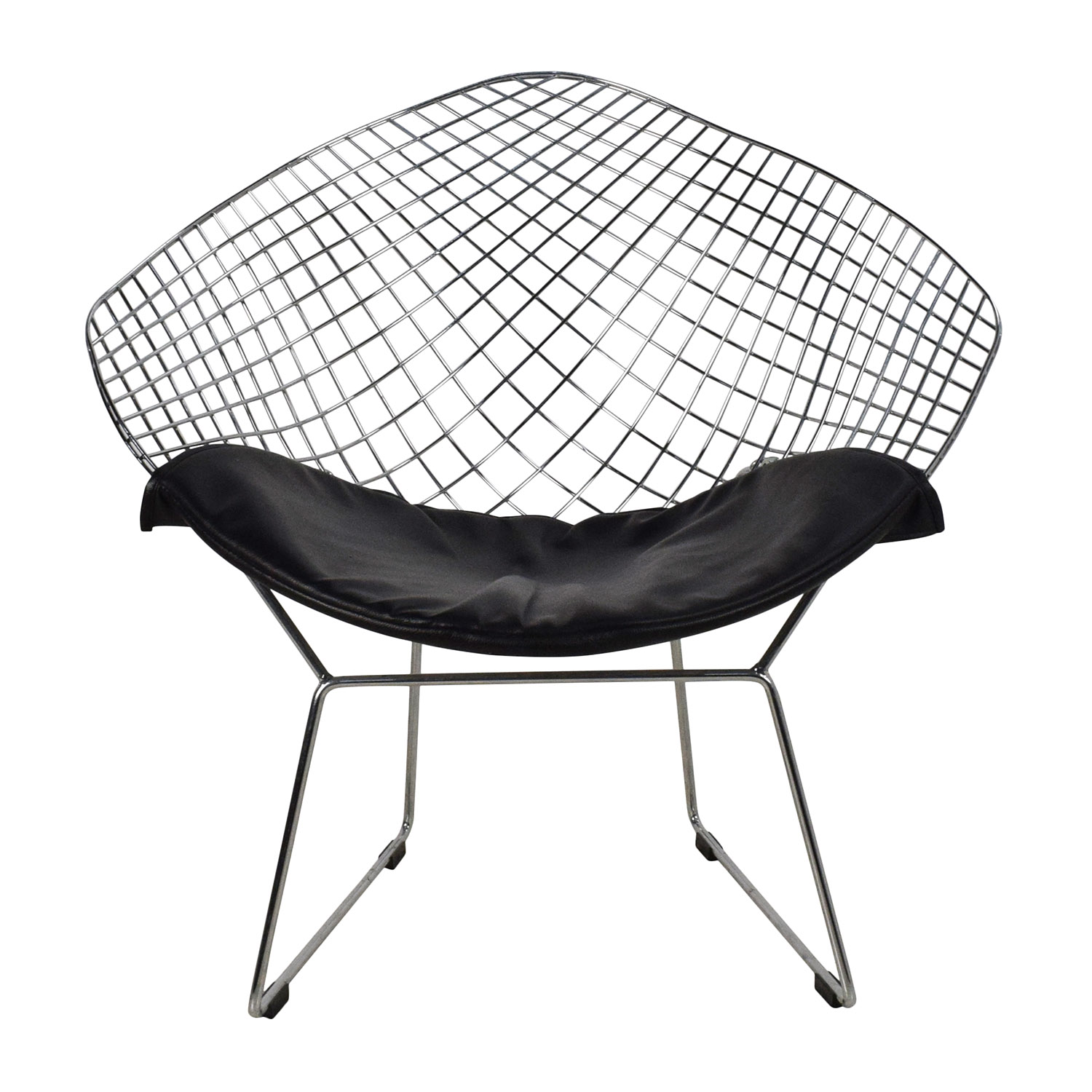 Herman Miller Herman Miller Wire Seat with Black Leather Seat Chairs