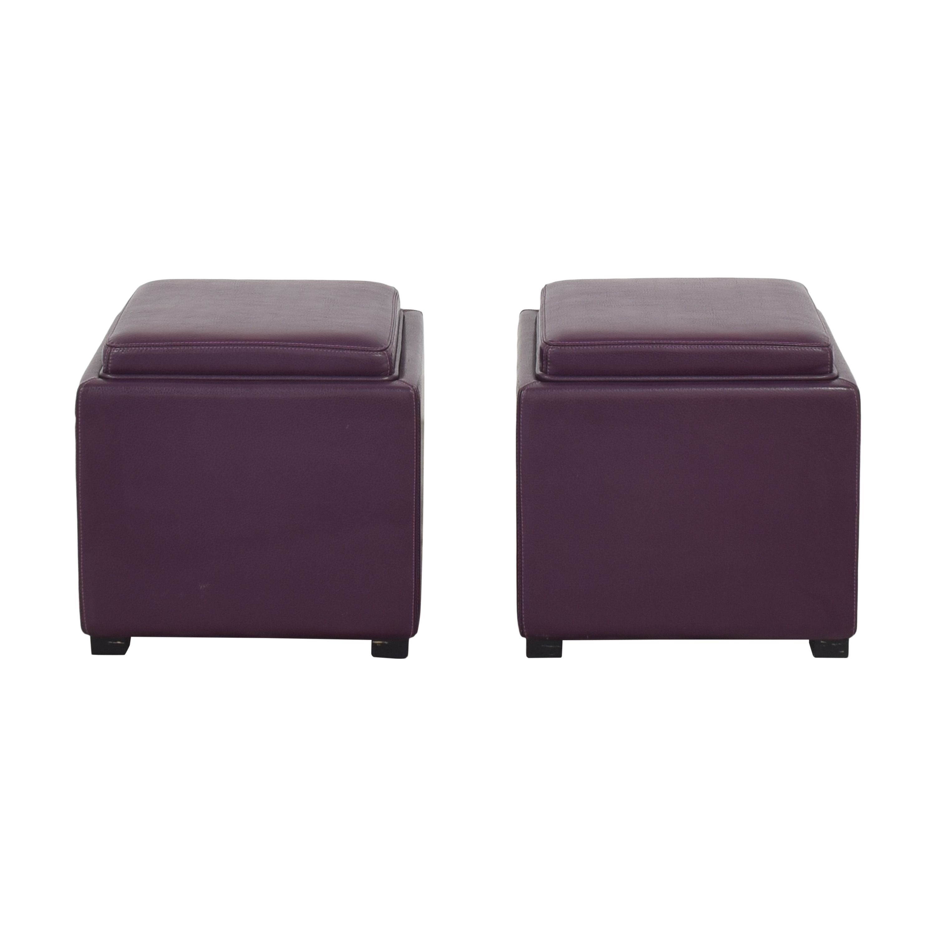 Crate & Barrel Crate & Barrel Stow Storage Ottomans on sale