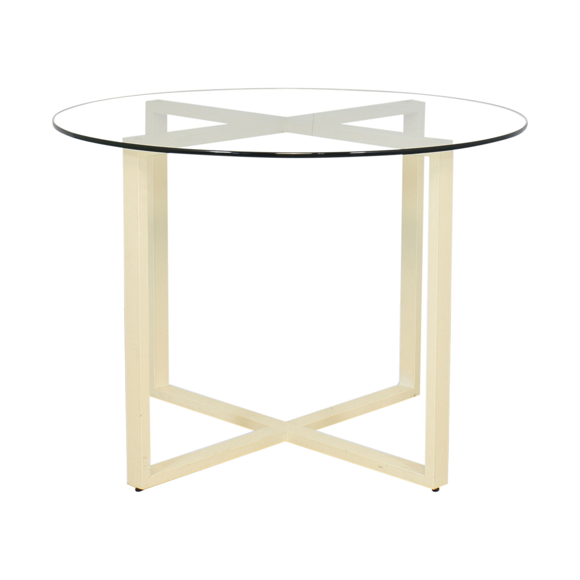West Elm West Elm Glass Top Dining Table Tables