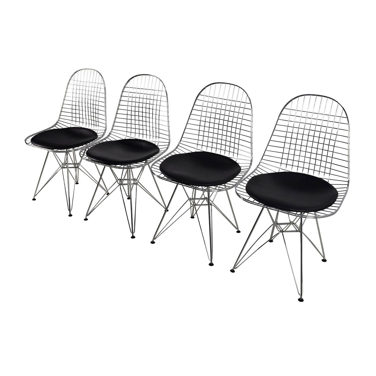 Fantastic 53% OFF - Herman Miller Herman Miller Eames Wire Chair Set with  BO86