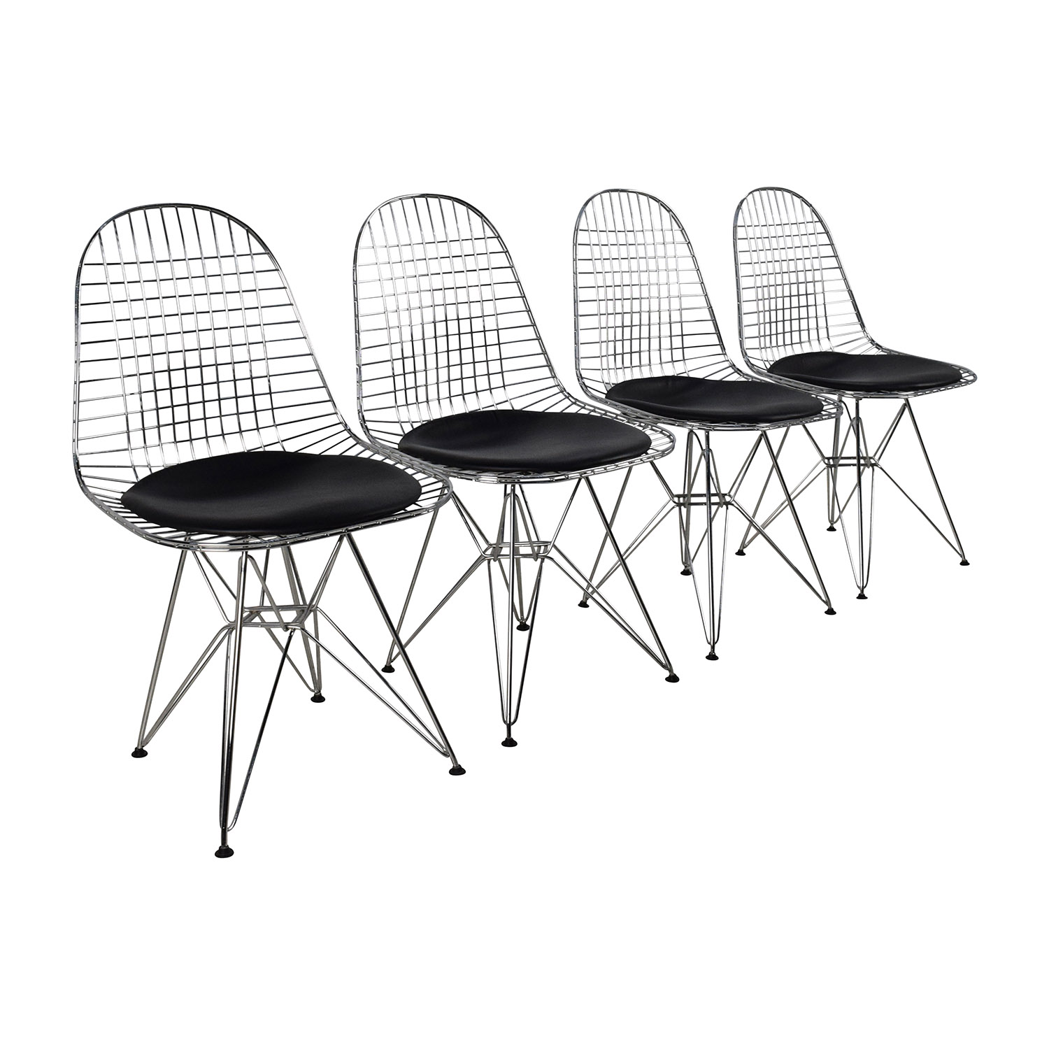 53% OFF Herman Miller Herman Miller Eames Wire Chair Set with