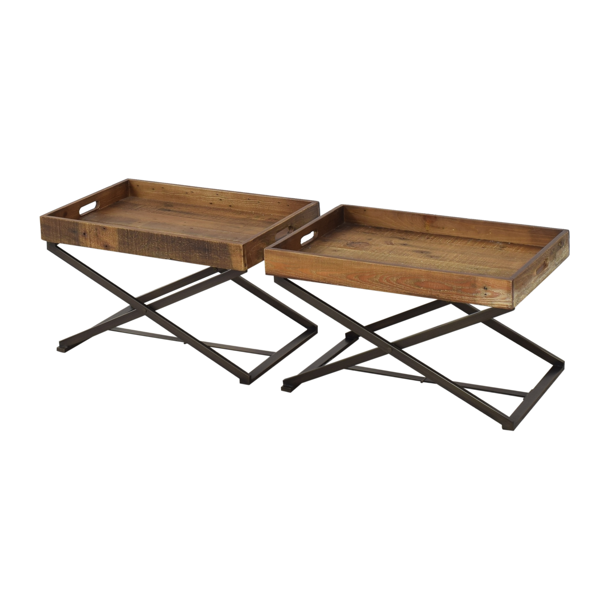 West Elm West Elm Butler Stand and Reclaimed Wood Trays nj