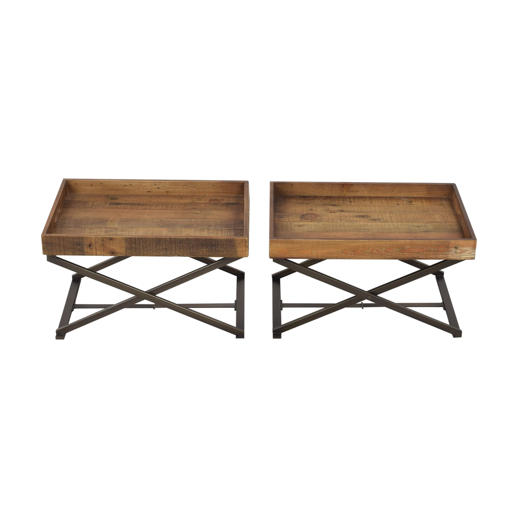 buy West Elm Butler Stand and Reclaimed Wood Trays West Elm