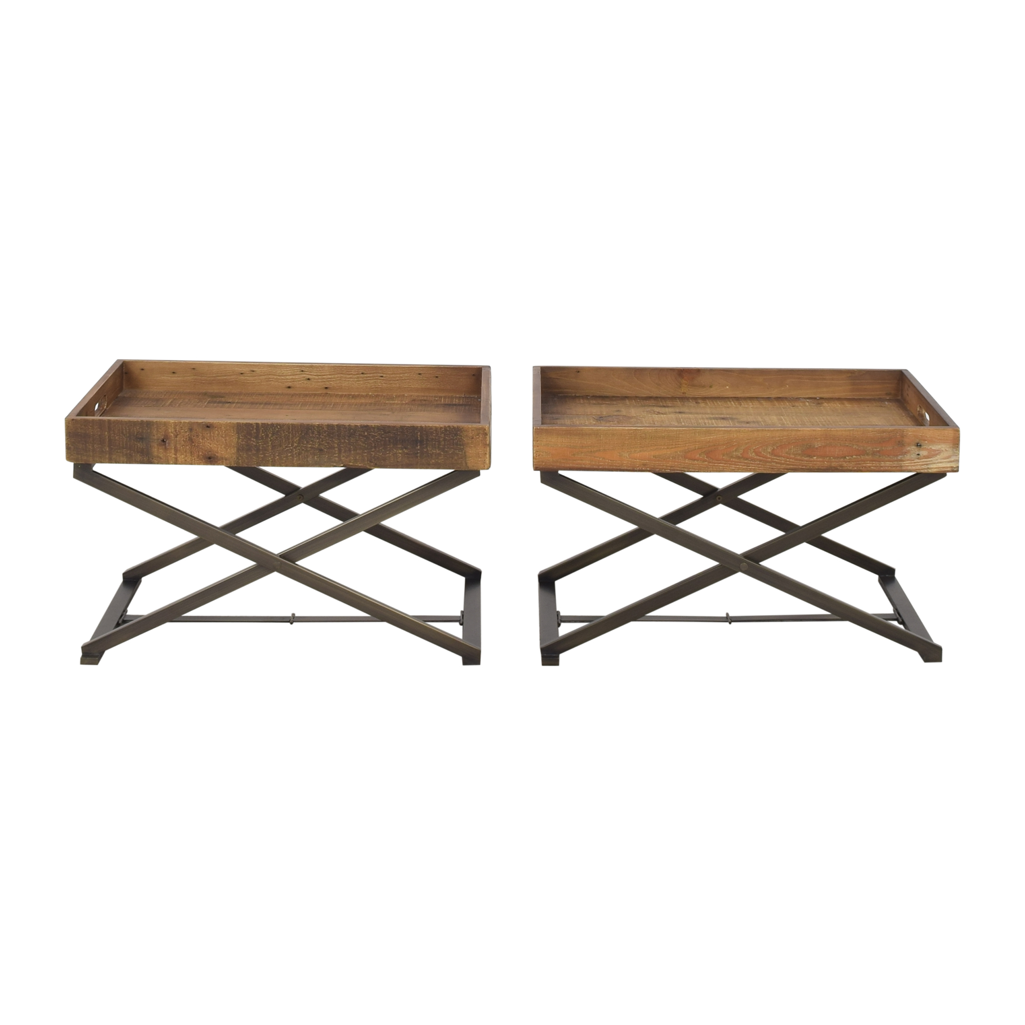 shop West Elm West Elm Butler Stand and Reclaimed Wood Trays online