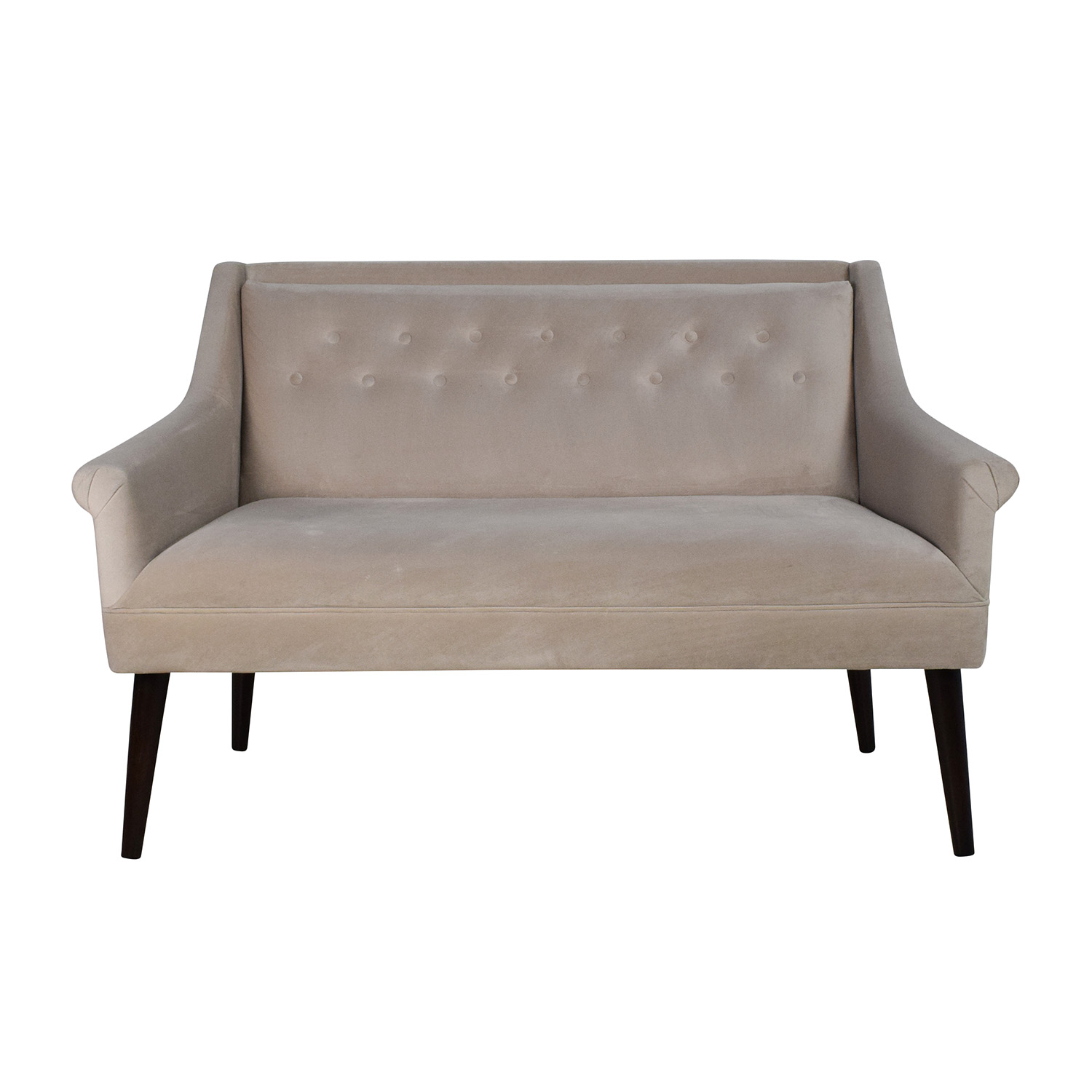 Shop One Kings Lane Bella Tufted Settee One Kings Lane ...