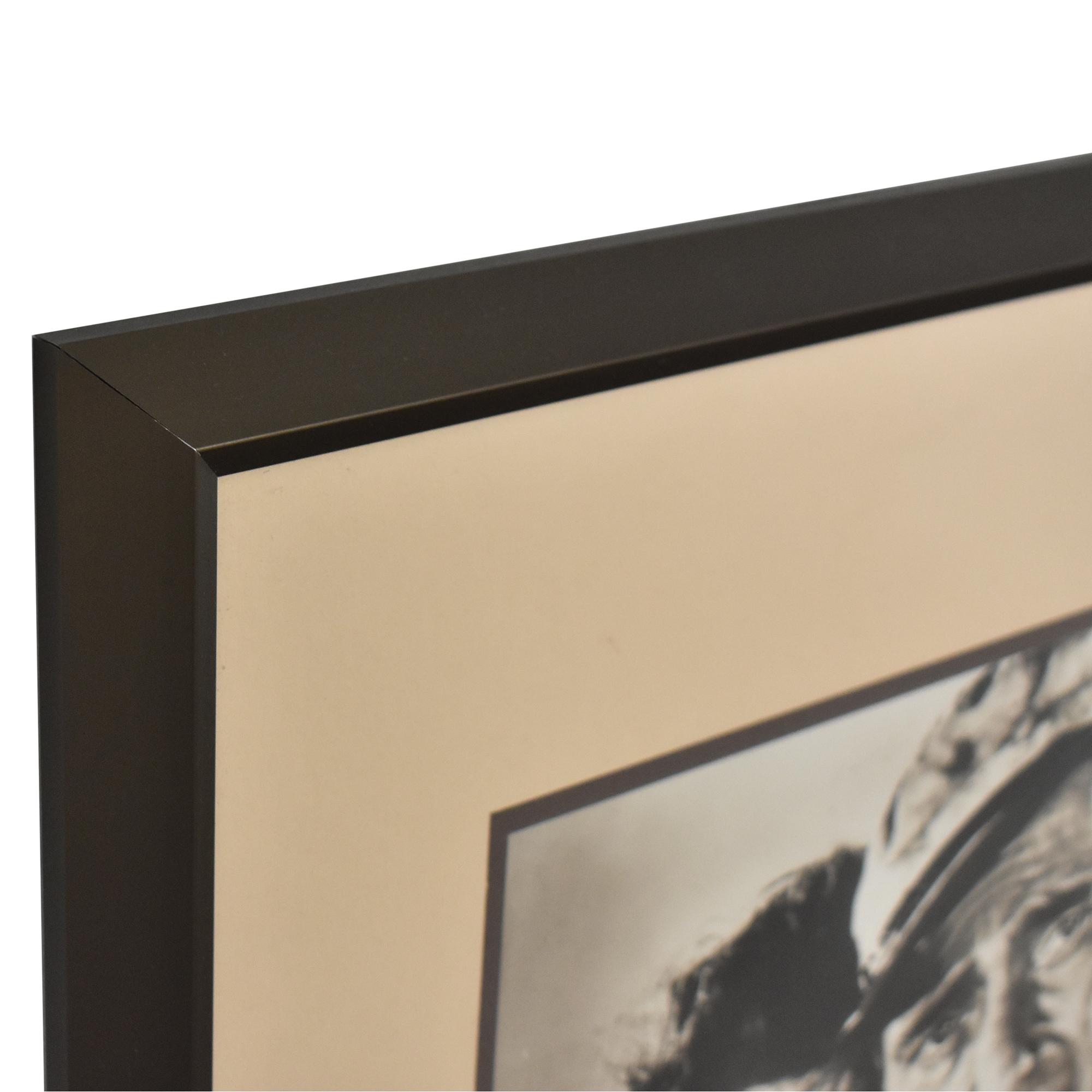 Vintage Bogart and Hepburn Wall Art dark brown & off white