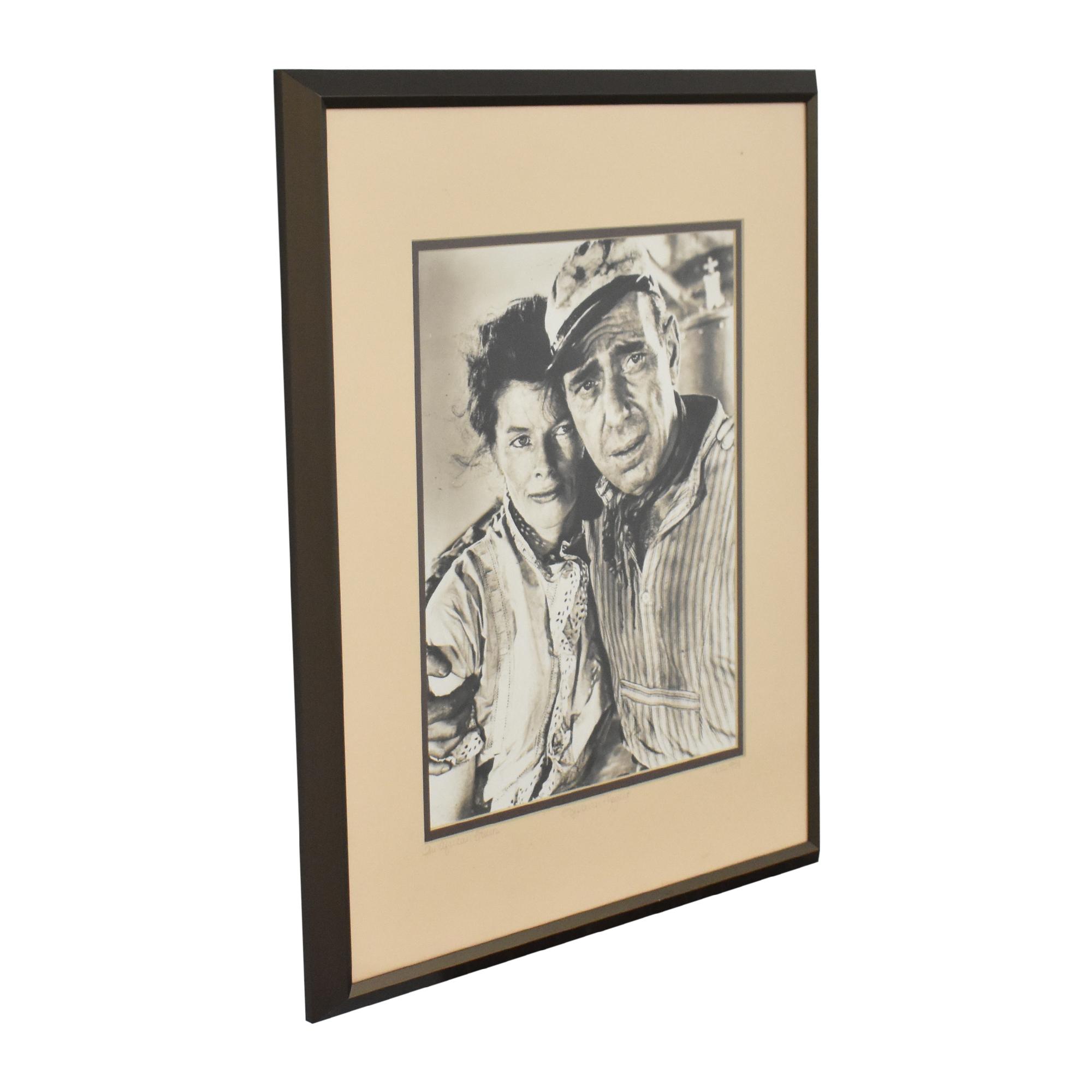 Vintage Bogart and Hepburn Wall Art for sale