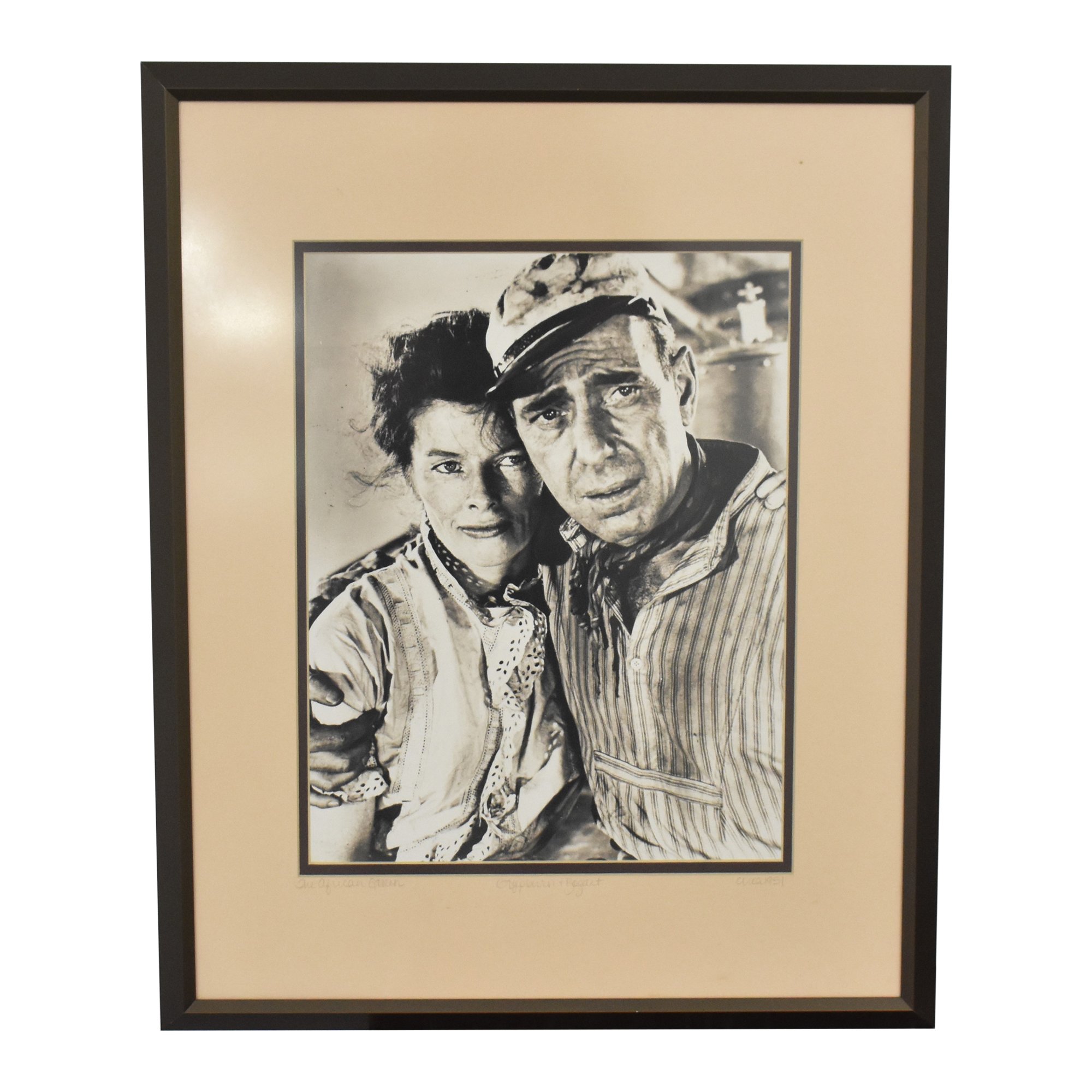 Vintage Bogart and Hepburn Wall Art on sale